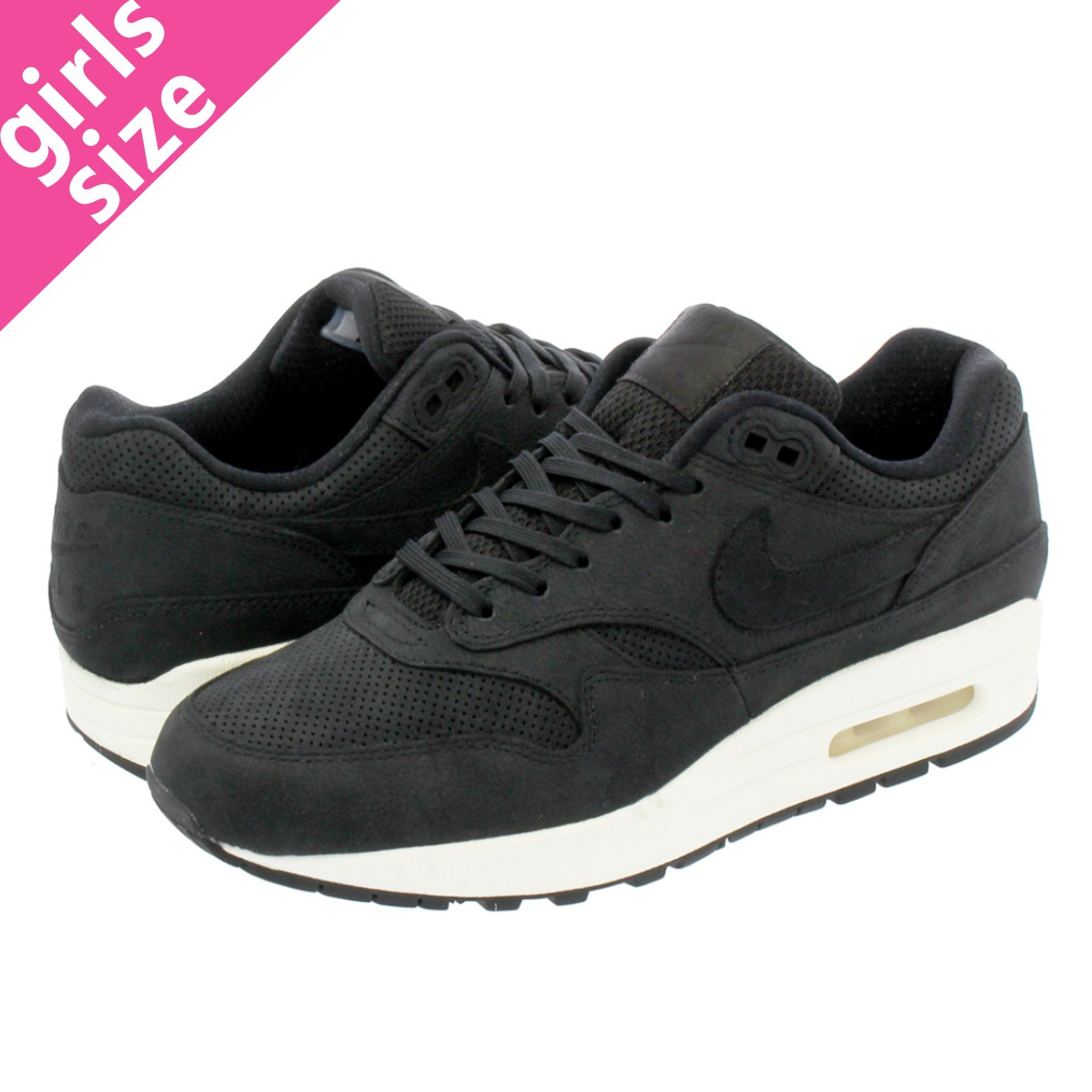 buy online 28e0d 45b13 LOWTEX BIG-SMALL SHOP NIKE WMNS AIR MAX 1 PINNACLE Nike women Air Max 1  Pinnacle BLACKBLACKSAIL  Rakuten Global Market