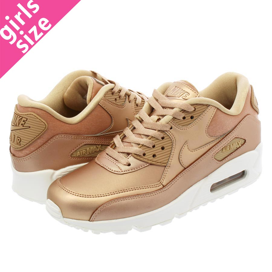 NIKE WMNS AIR MAX 90 PRM Nike women Air Max 90 premium METALLIC RED BRONZE