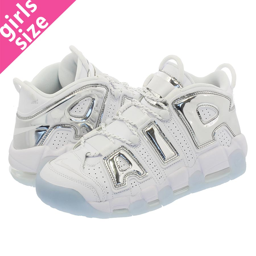 NIKE WMNS AIR MORE UPTEMPO Nike women air more up tempo WHITE/CHROME/BLUE  TINT