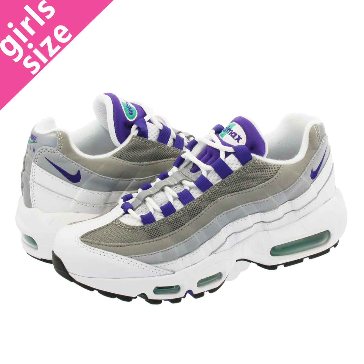 promo code 45d65 f2d7d ... norway nike wmns air max 95 nike women air max 95 white court purple  emerald green