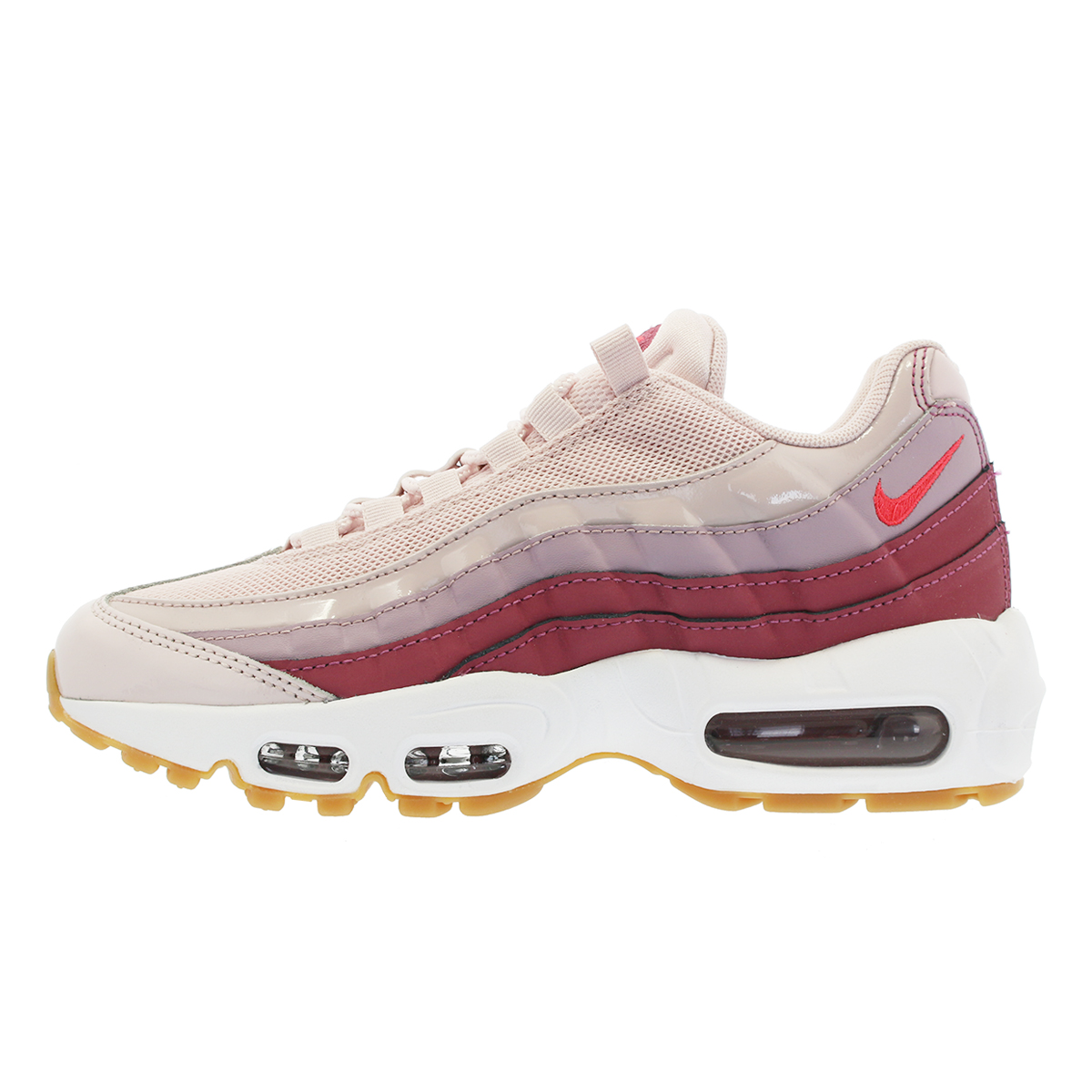 new product 76668 17e50 NIKE WMNS AIR MAX 95 Nike women Air Max 95 BARELY ROSEHOT PUNCHVINTAGE  WINEWHITE