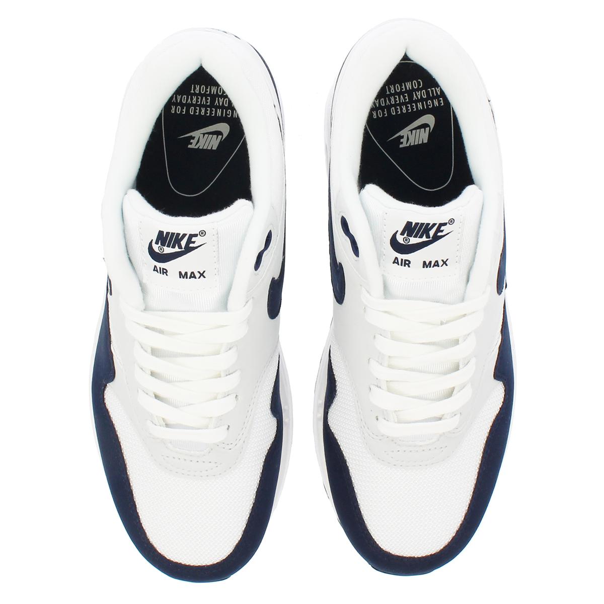 8cafaf2169a NIKE WMNS AIR MAX 1 Nike women Air Max 1 WHITE OBSIDIAN PURE PLATINUM BLACK