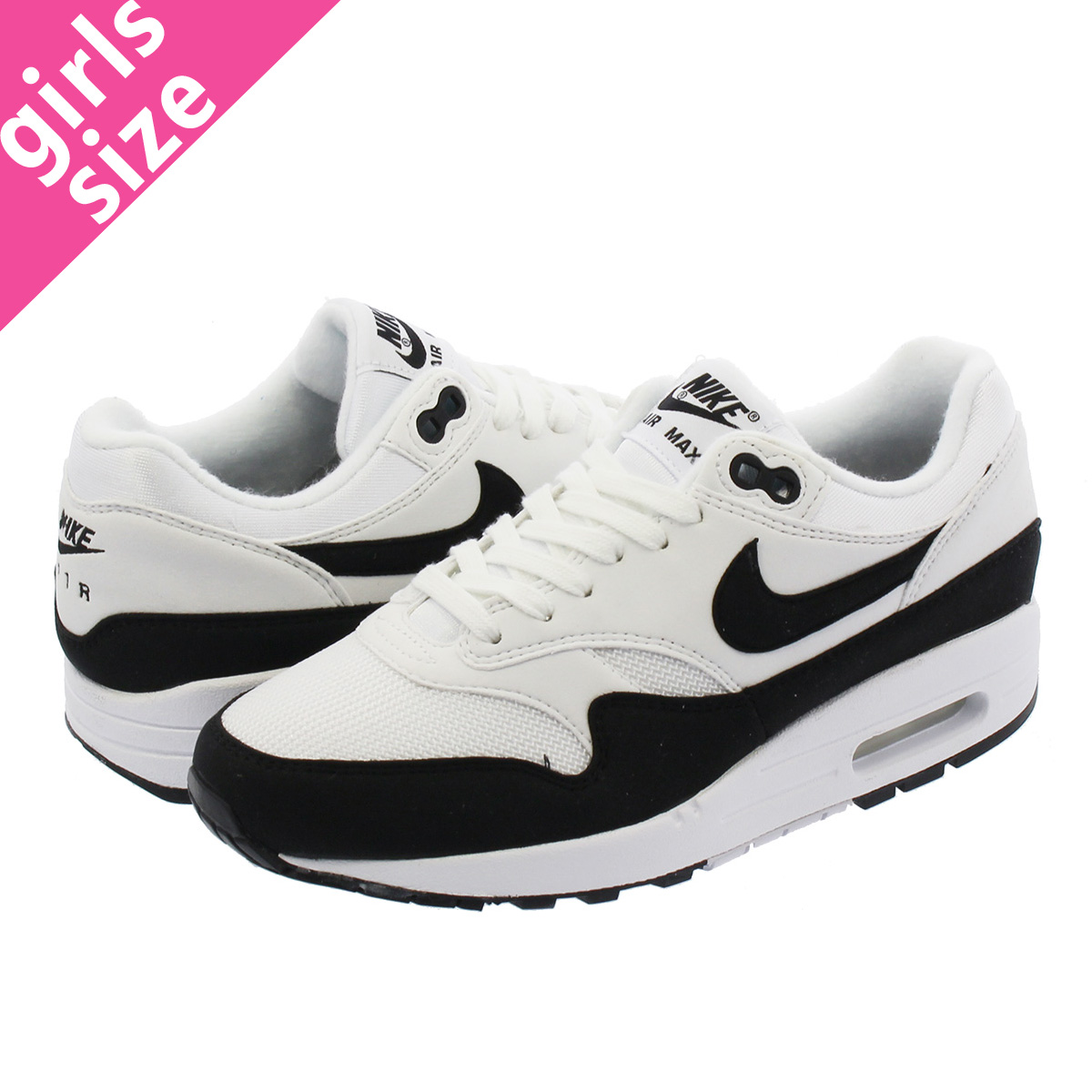 NIKE WMNS AIR MAX 1 Nike women Air Max 1 WHITEBLACK 319,986 109