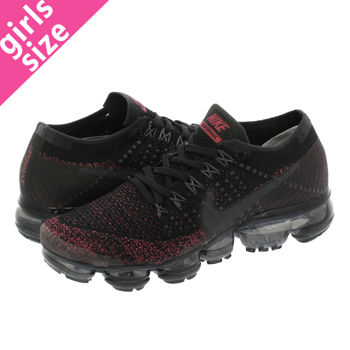 3222ecd420 NIKE WMNS AIR VAPORMAX FLYKNIT Nike women vapor max fried food knit  BLACK/ANTHRACITE/ ...