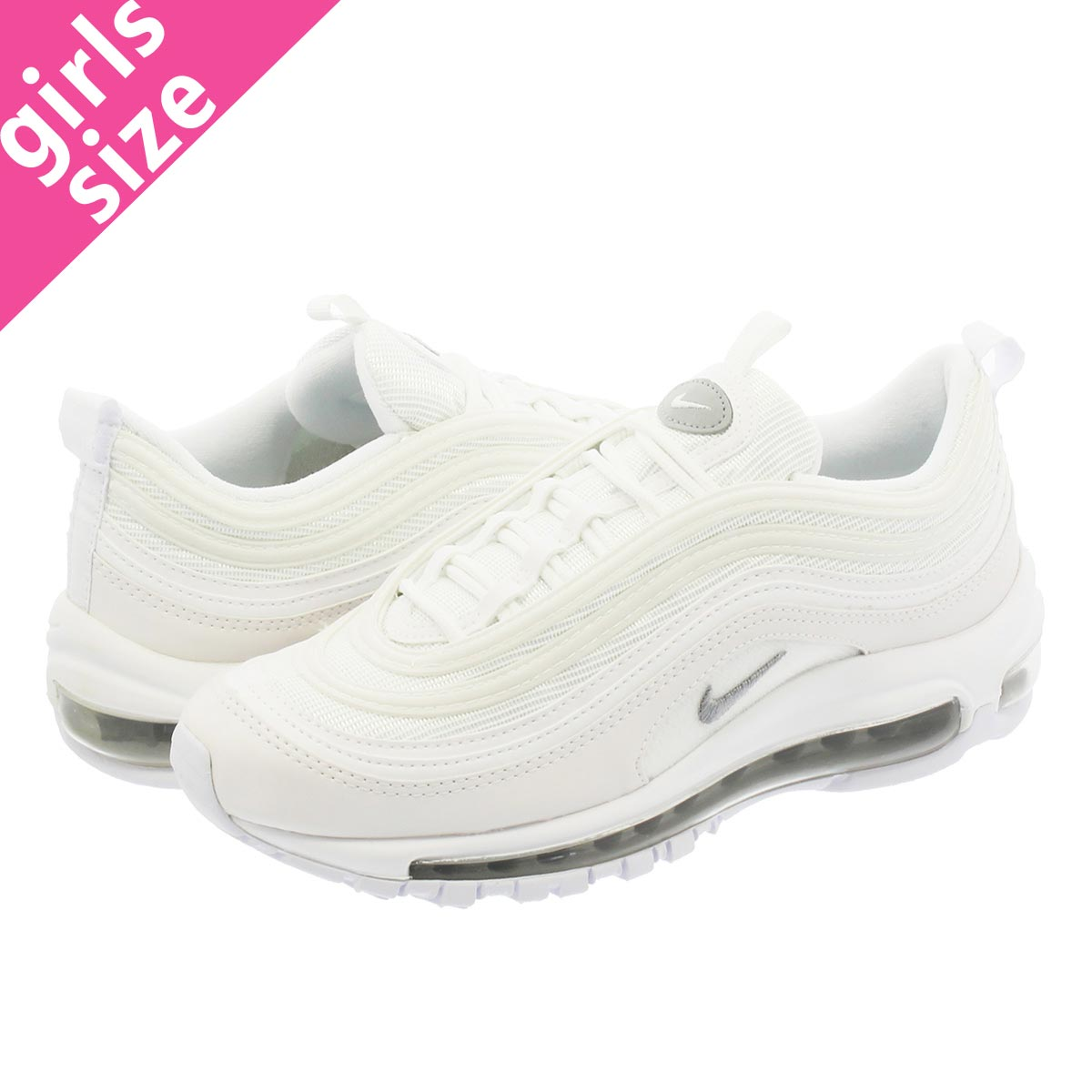 776cad3727 LOWTEX BIG-SMALL SHOP: NIKE AIR MAX 97 GS Kie Ney AMAX 97 GS WHITE ...