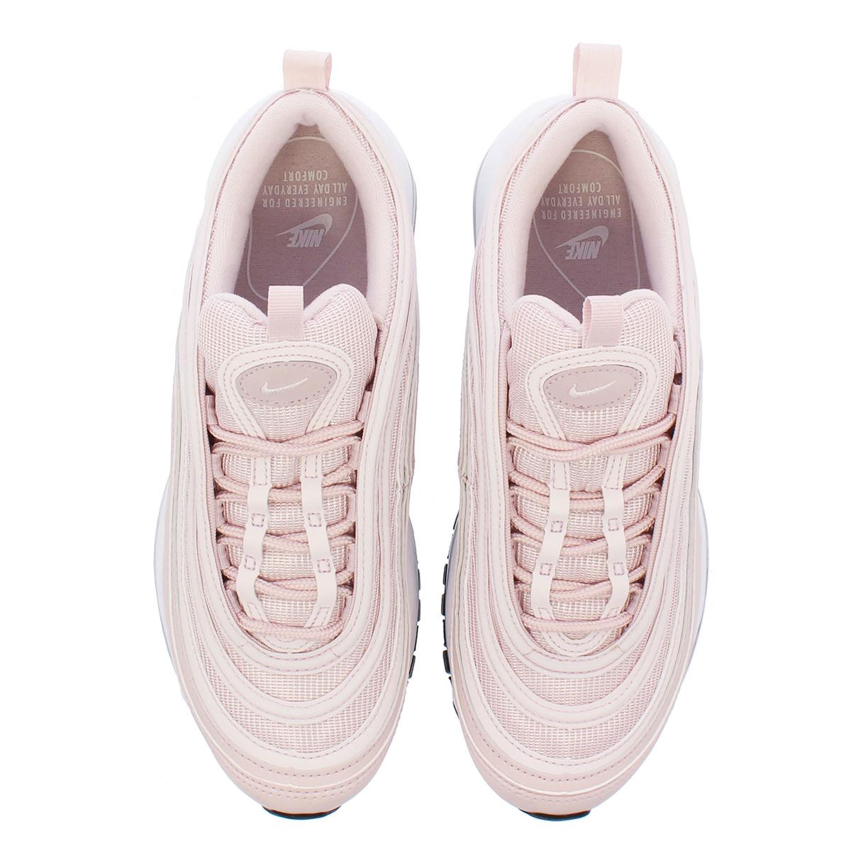 Women's OFF white x Nike Air Max 97 Pink White Black 921733 600 Girls Running Shoes 921733 600