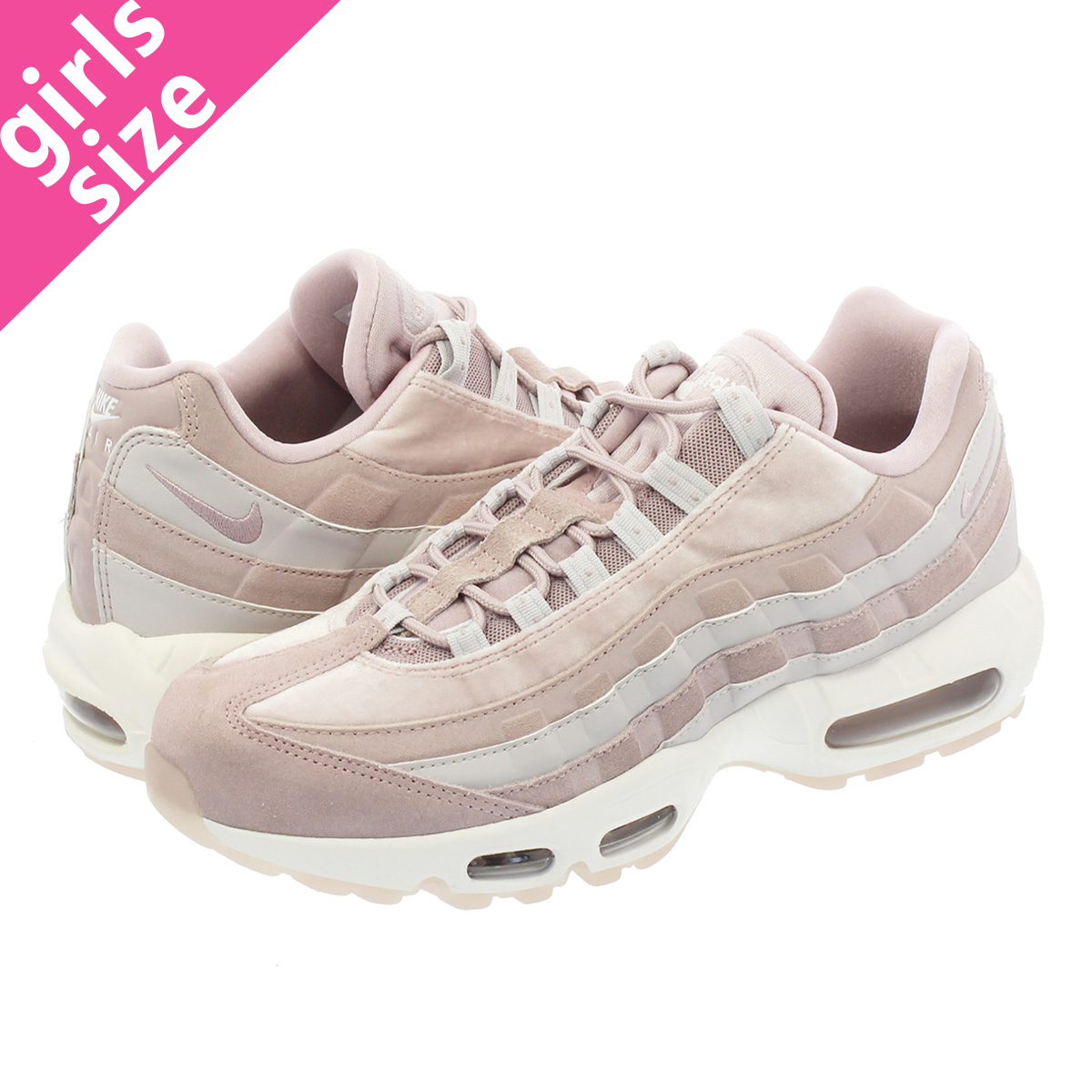 best website 8a686 10975 NIKE WMNS AIR MAX 95 LX Nike women Air Max 95 LX PARTICLE ROSEVAST GREY WHITE