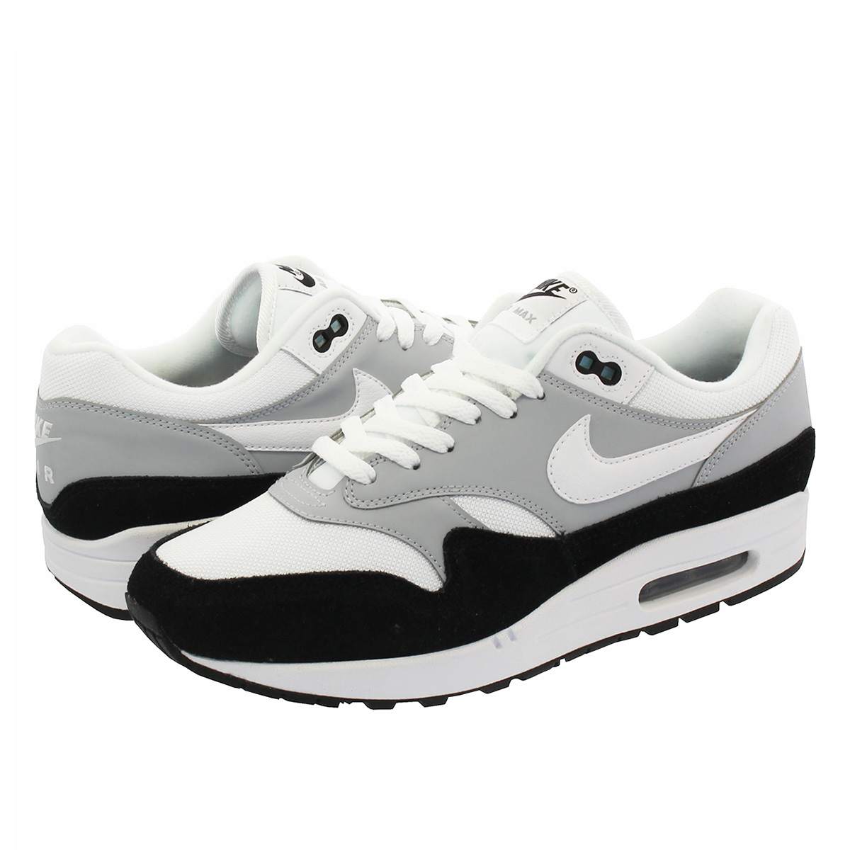online store 05a27 37bc8 NIKE AIR MAX 1 Kie Ney AMAX 1 WOLF GREY WHITE BLACK