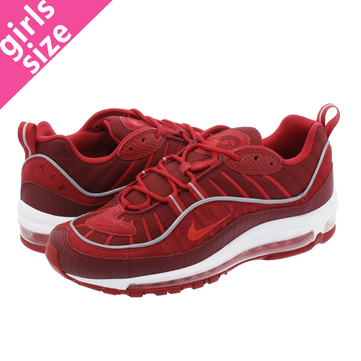 best loved a0b5a 8ec02 NIKE AIR MAX 98 SE Kie Ney AMAX 98 SE TEAM RED HABANERO RED GYM RED WHITE  ao9380-600-l