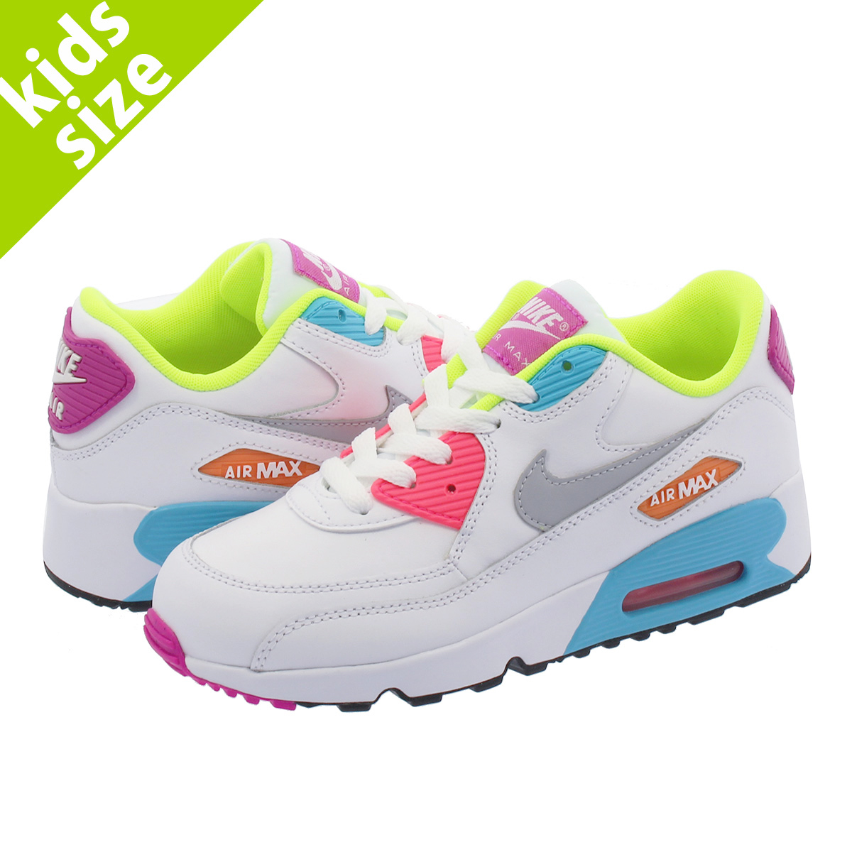 low priced 8cfa7 1976b ... coupon code nike air max 90 leather ps kie ney amax 90 leather ps white  lime
