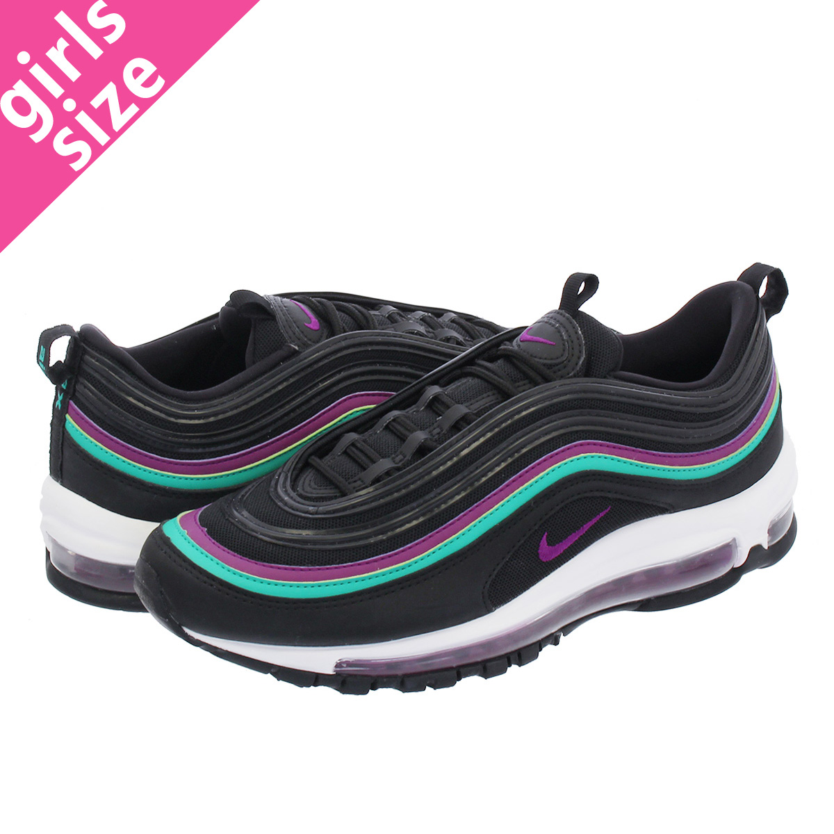 reputable site 03d8c 337d0 LOWTEX BIG-SMALL SHOP NIKE WMNS AIR MAX 97 Nike women Air Max 97  BLACKBRIGHT GRAPECLEAR EMERALD 921,733-008  Rakuten Global Market