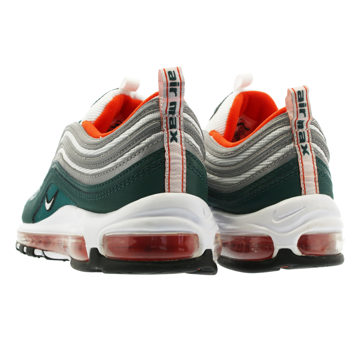 new style 65a11 12eff NIKE AIR MAX 97 Kie Ney AMAX 97 RAINFOREST WHITE TEAM ORANGE BLACK  921,826-300