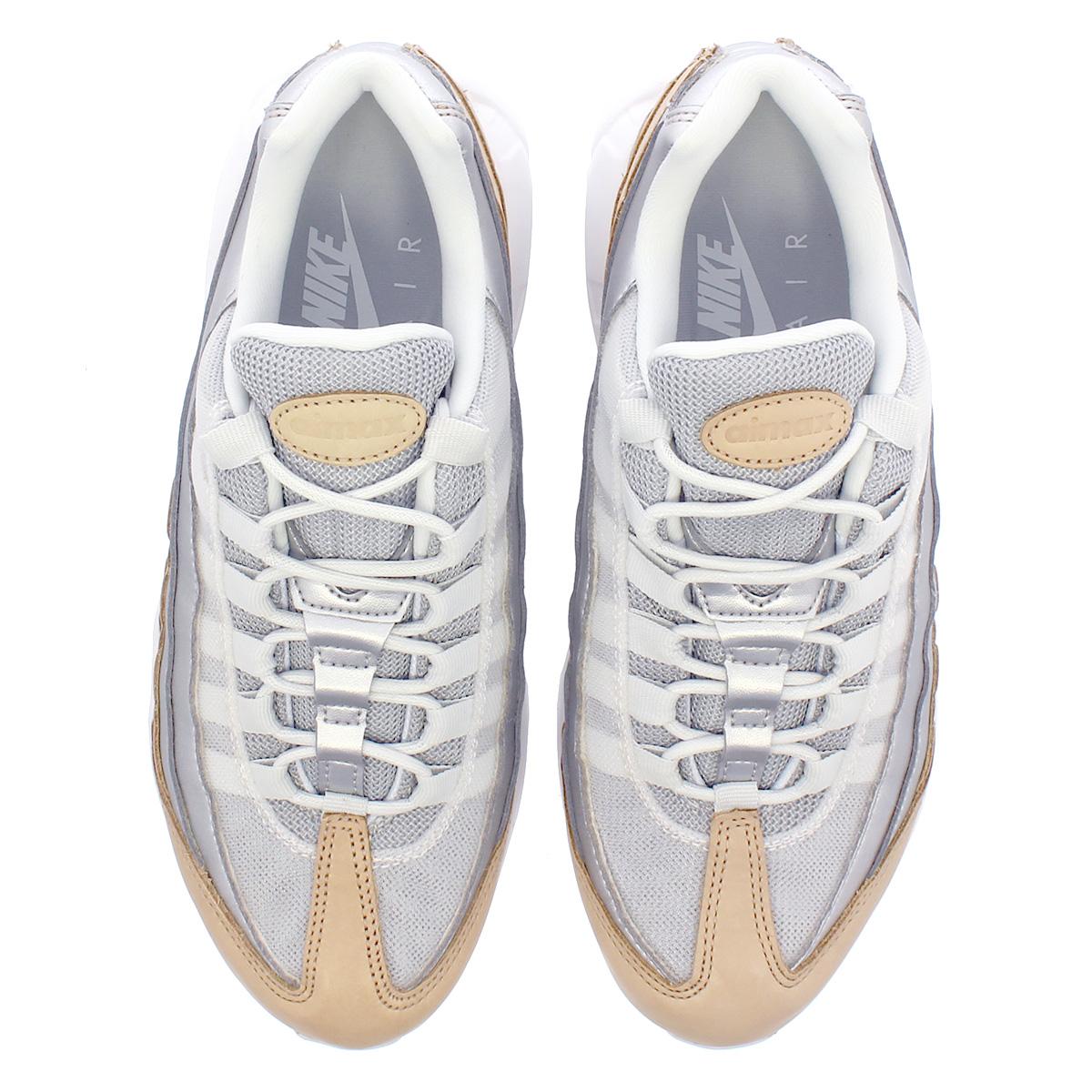 00bbd87773 ... NIKE WMNS AIR MAX 95 SE PRM Nike women Air Max 95 SE premium PURE  PLATINUM ...
