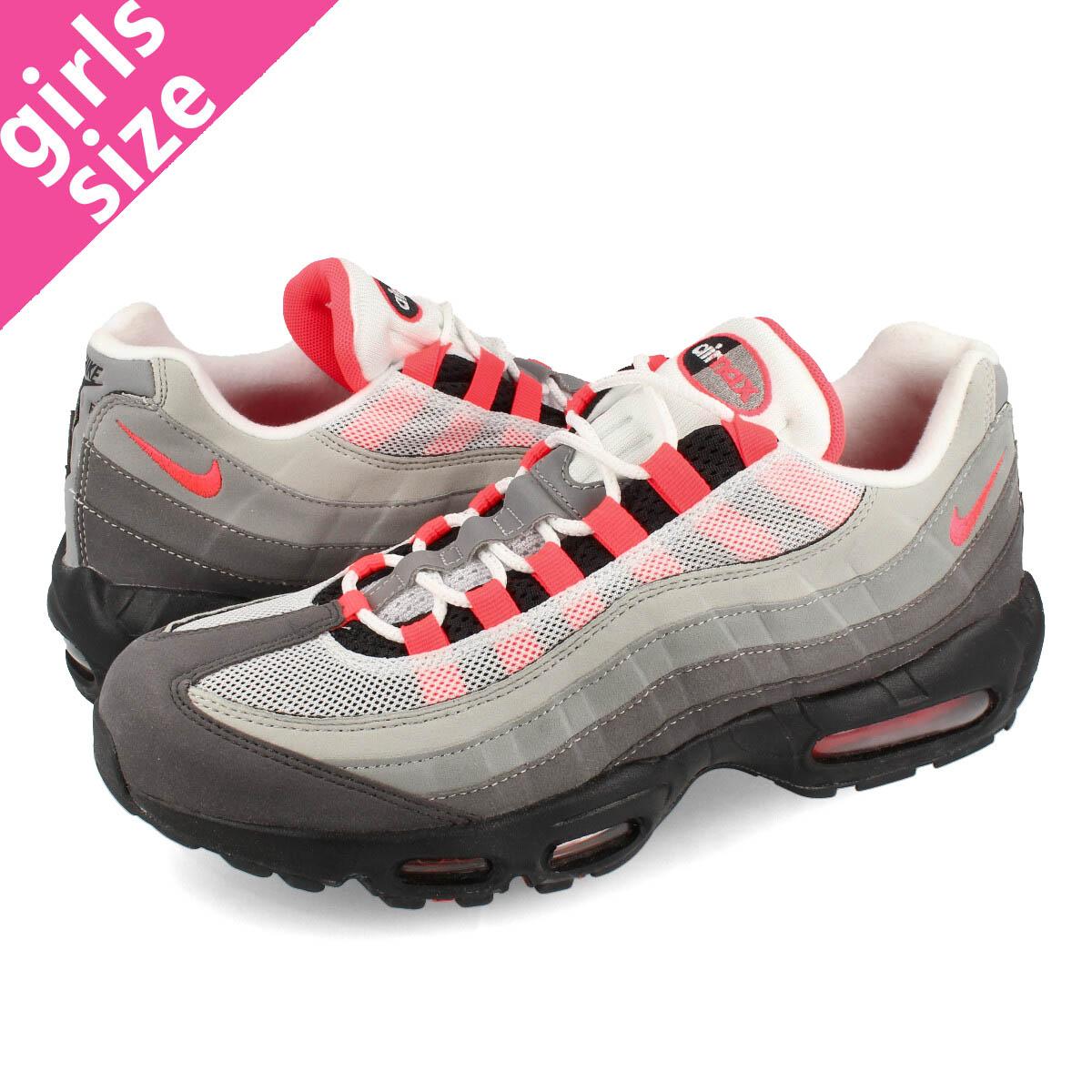 Nike Shoes Womens Air Max 95 OG White Solar Red Granite Dust