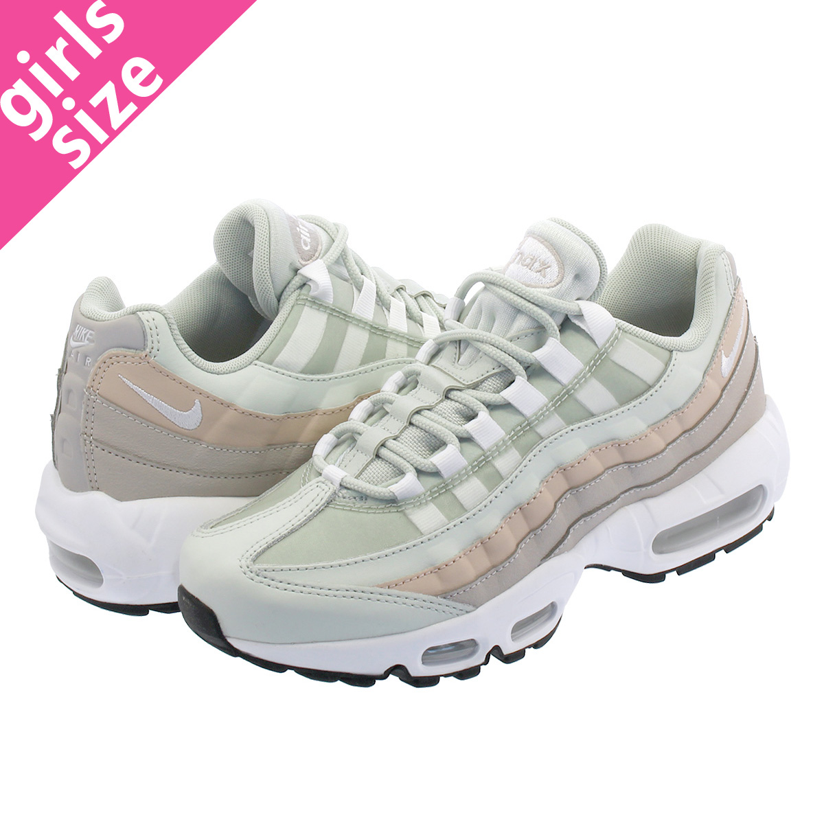 the best attitude 54763 5ef1d NIKE WMNS AIR MAX 95 Nike women Air Max 95 LIGHT SILVER WHITE MOON PARTICLE  307,960-018
