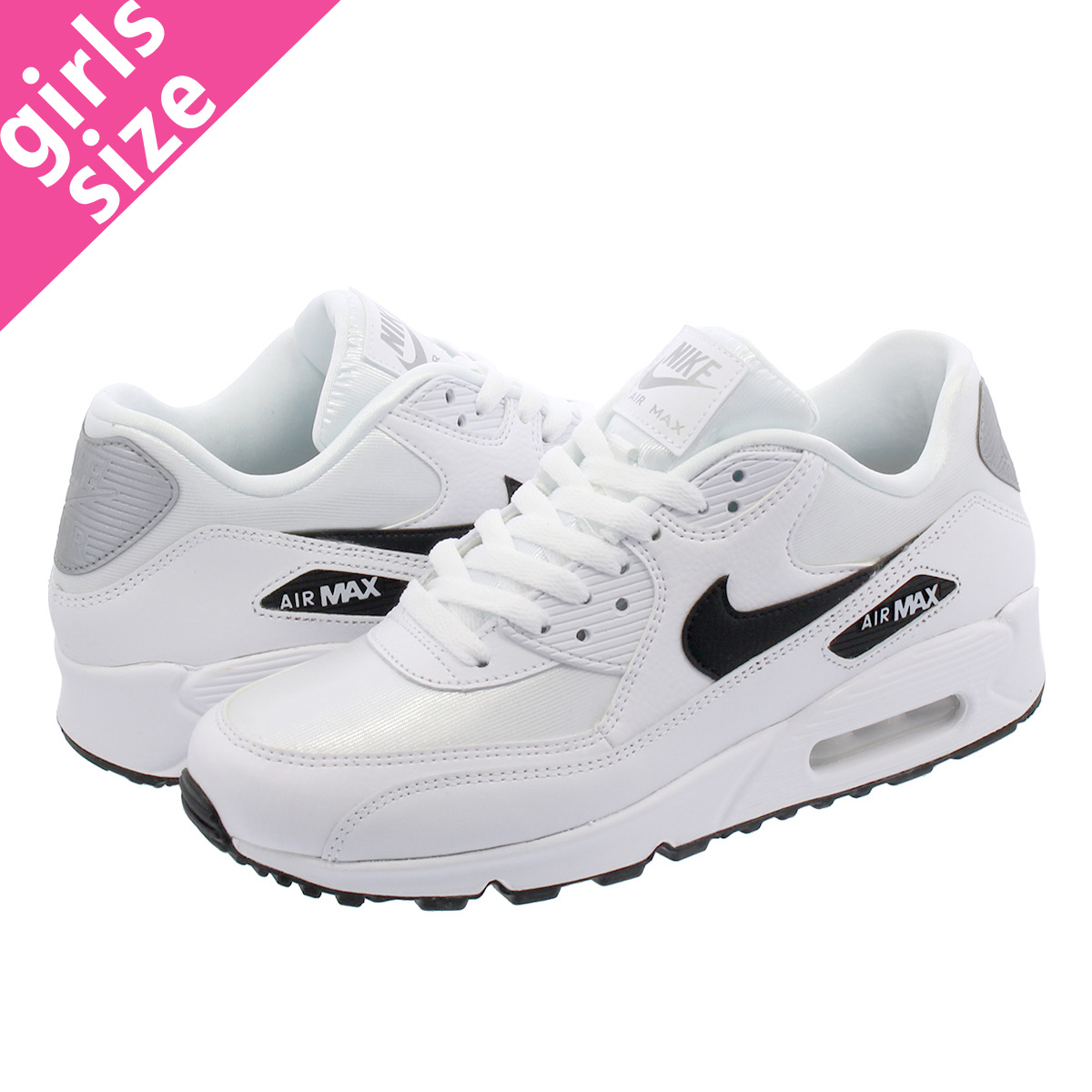 competitive price abecb 54be1 NIKE WMNS AIR MAX 90 Nike women Air Max 90 WHITE BLACK REFLECT SILVER  325,213-137