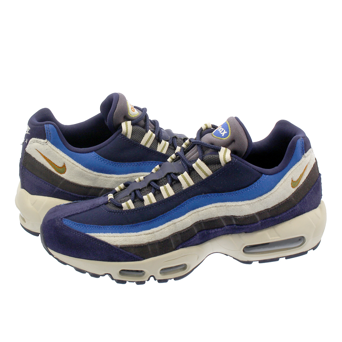 NIKE AIR MAX 95 PREMIUM Kie Ney AMAX 95 premium BLACKENED BLUE CAMPER  GREEN MONARCH 538 370089533
