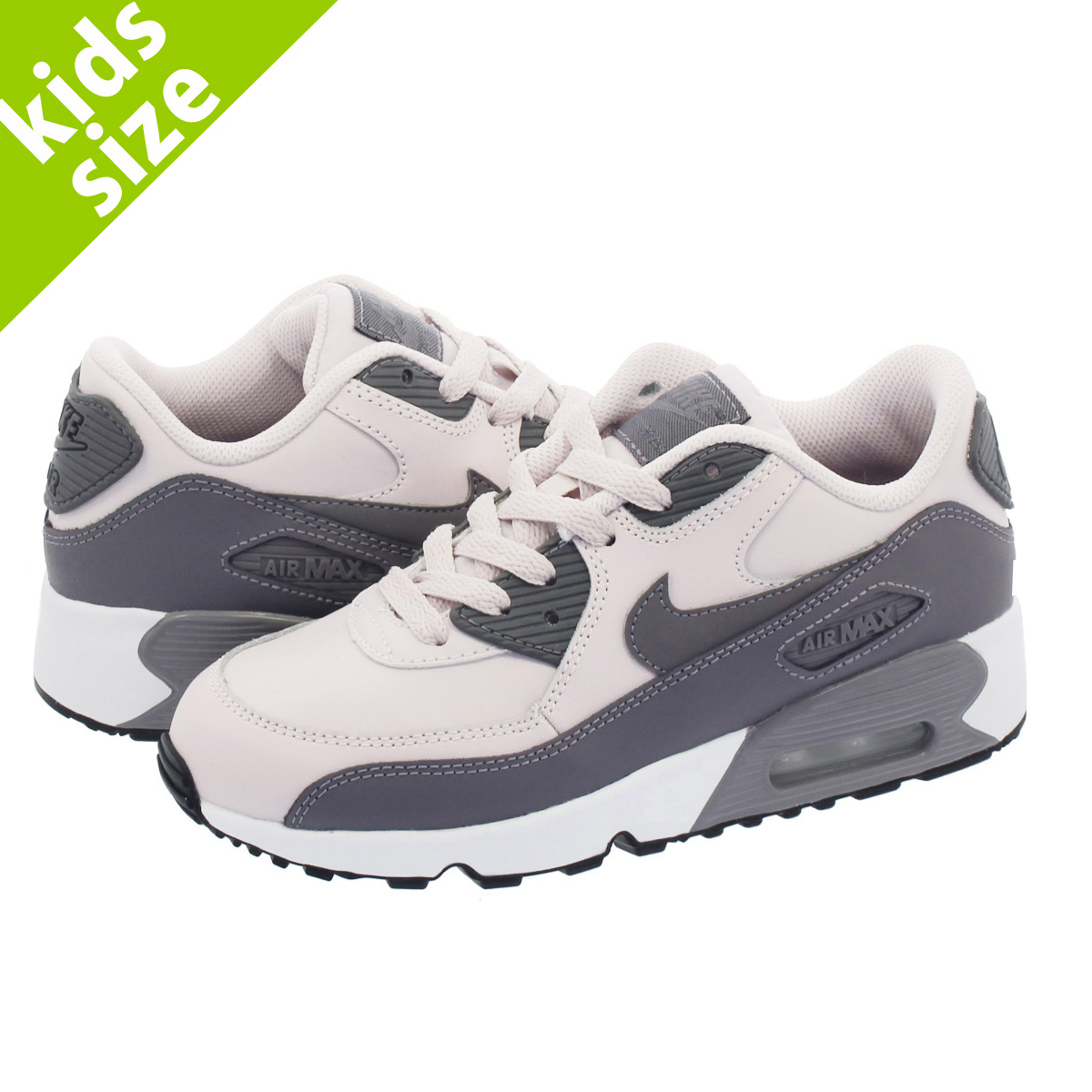 b4a9297d9a NIKE AIR MAX 90 LTR PS Kie Ney AMAX 90 leather PS BARELY ROSE/GUNSMOKE ...