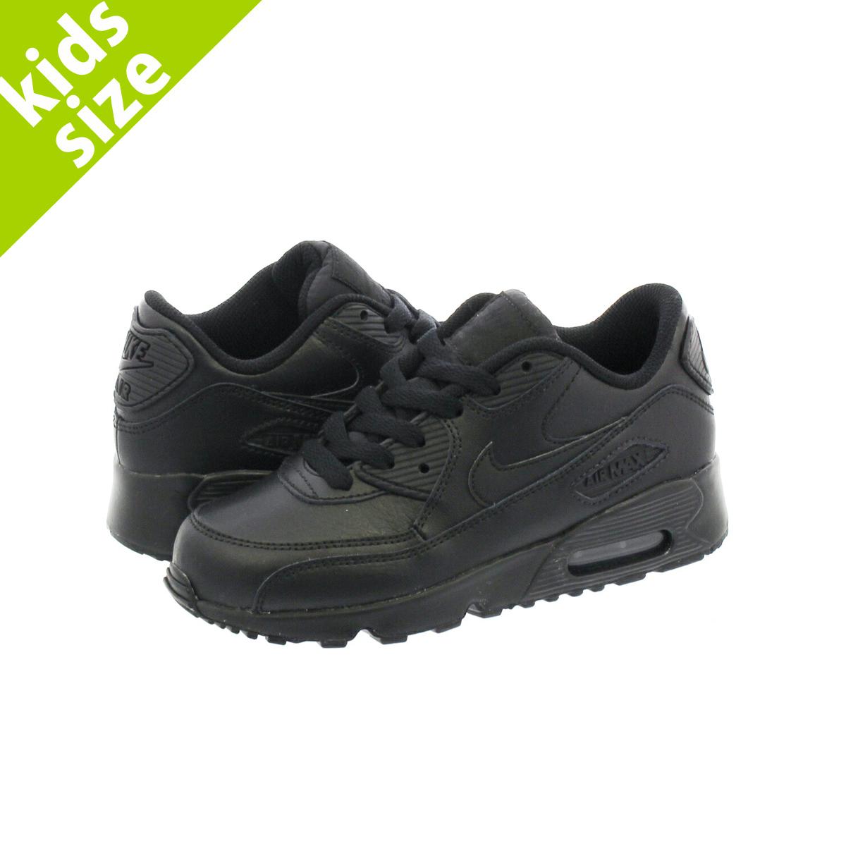 0cc1ed4bb3f3b NIKE AIR MAX 90 LTR PS Kie Ney AMAX 90 leather PS BLACK/BLACK 833,414-001