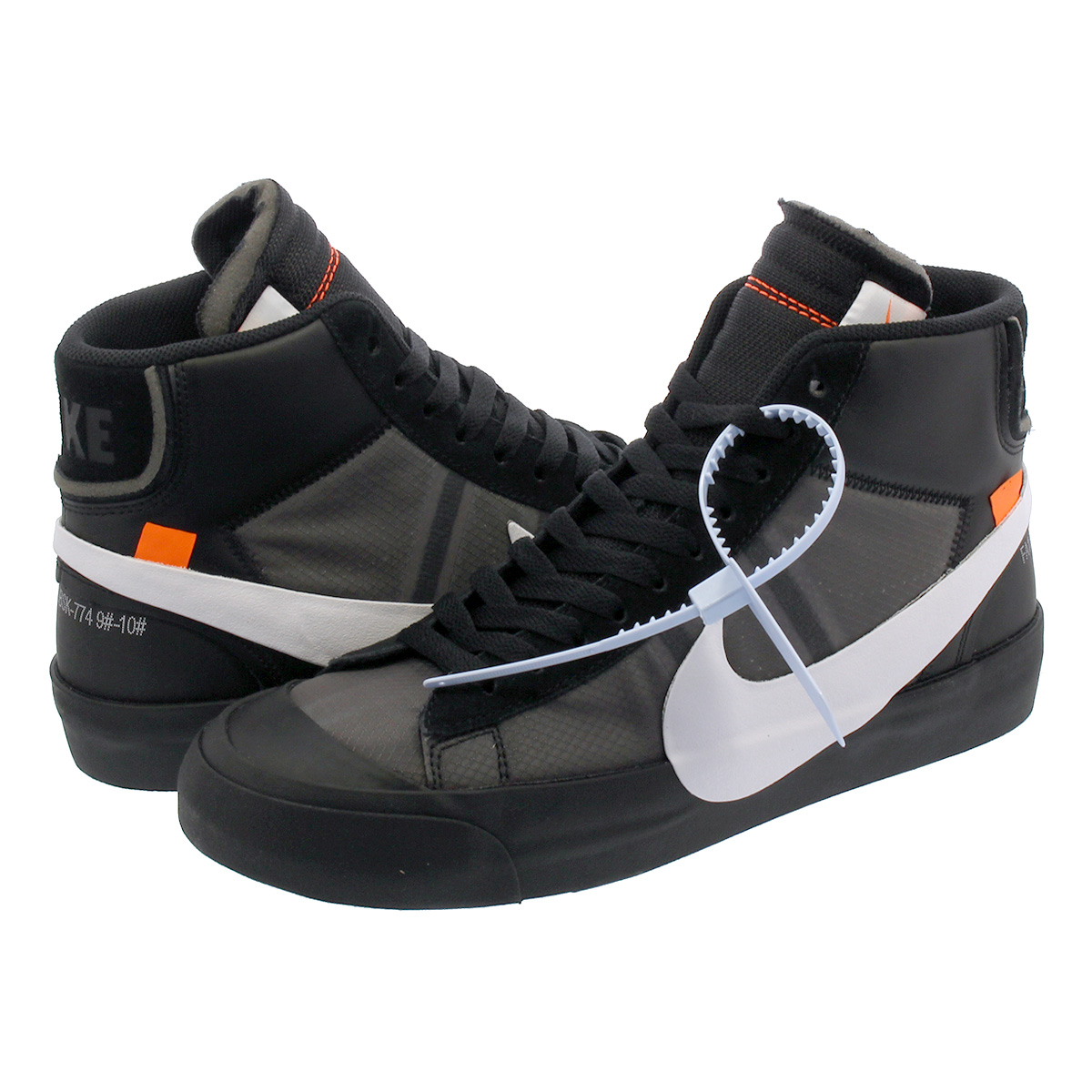 newest e7161 f5837 NIKE BLAZER MID Nike blazer mid-off white BLACK/WHITE aa3832-001
