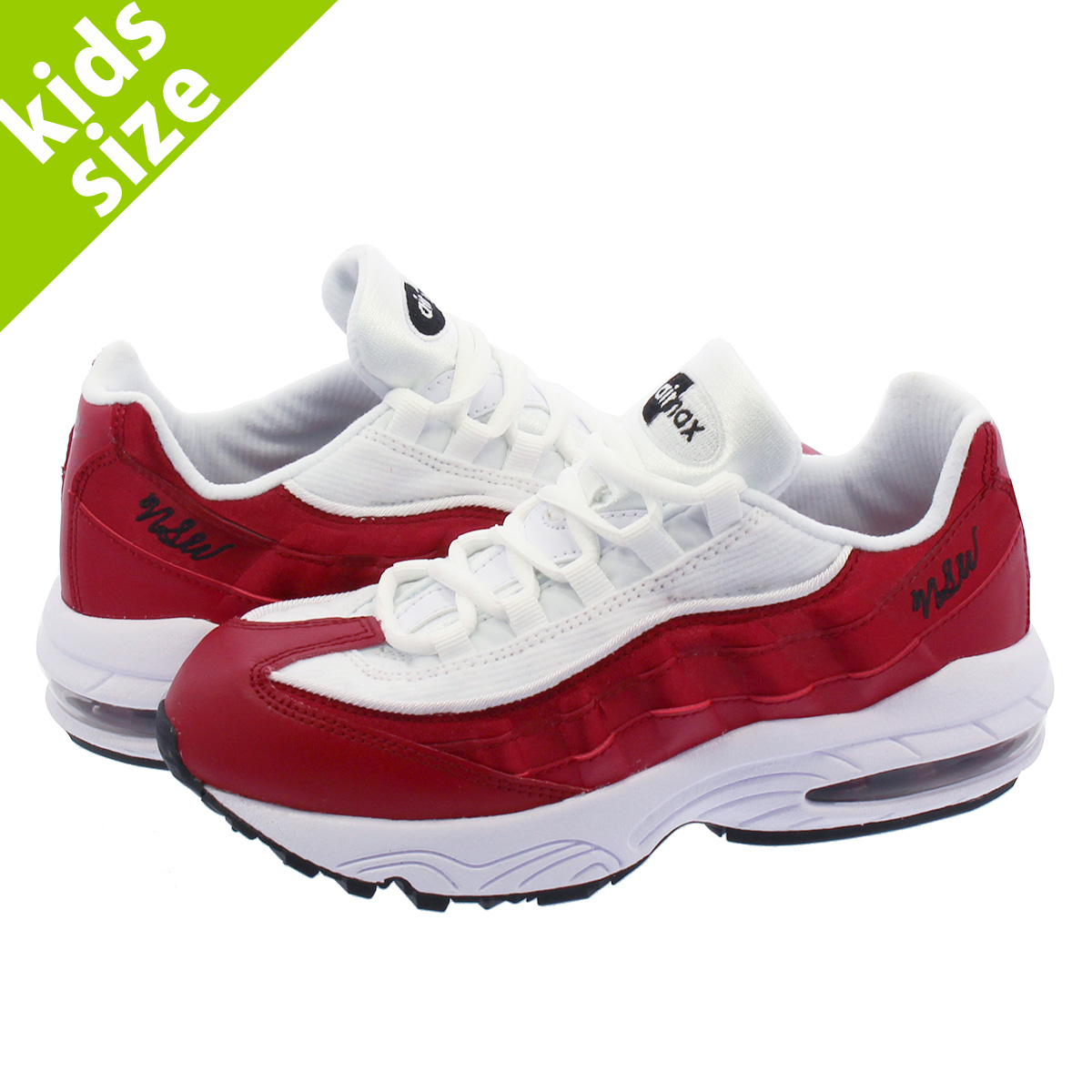c0aafaa326 NIKE AIR MAX 95 SE PS Kie Ney AMAX SE PS RED CRUSH/WHITE/BLACK ao9211-600
