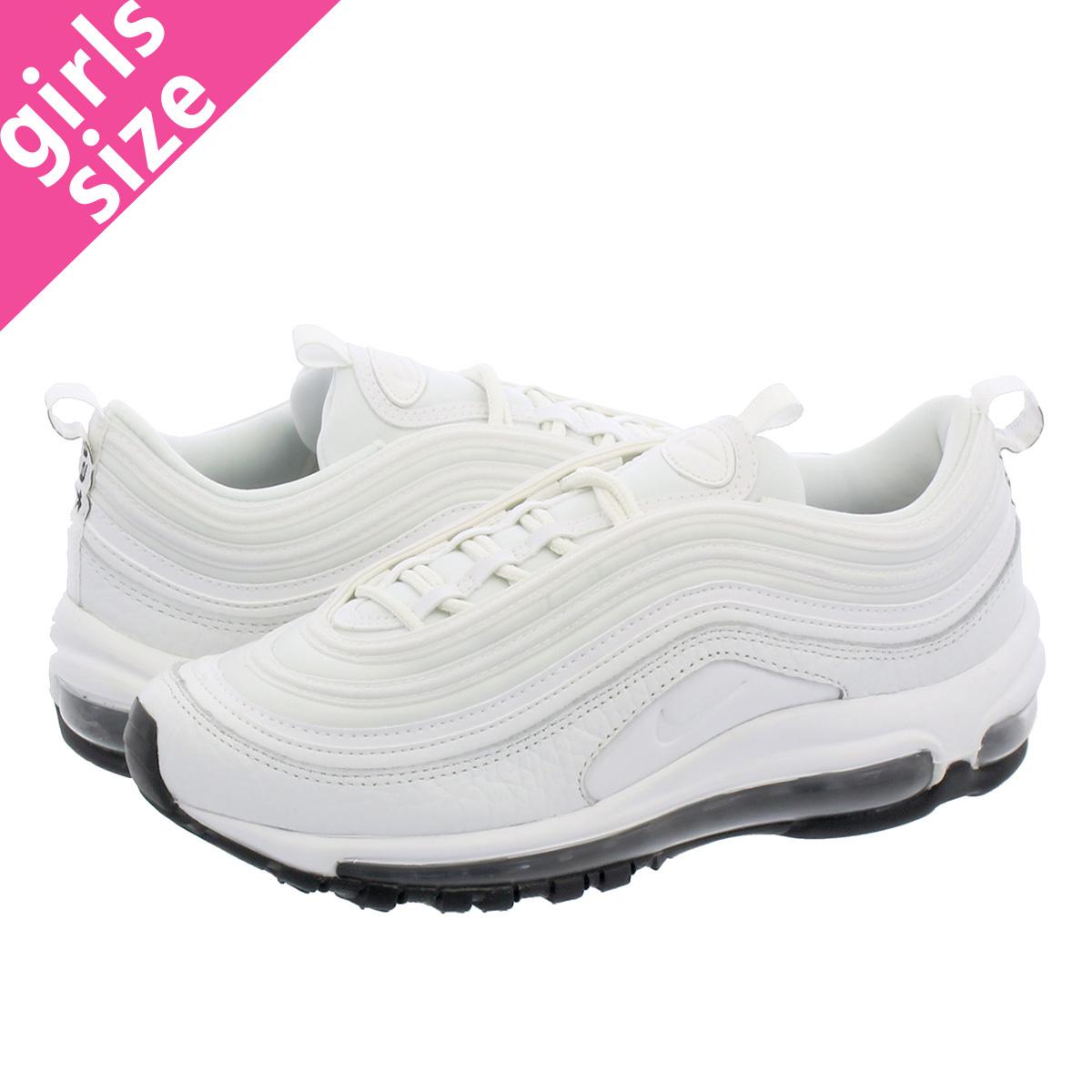 ca1d2a2a85d LOWTEX BIG-SMALL SHOP  NIKE WMNS AIR MAX 97 LEATHER Nike women Air Max 97  leather SUMMIT WHITE SUMMIT WHITE BLACK aq8760-100