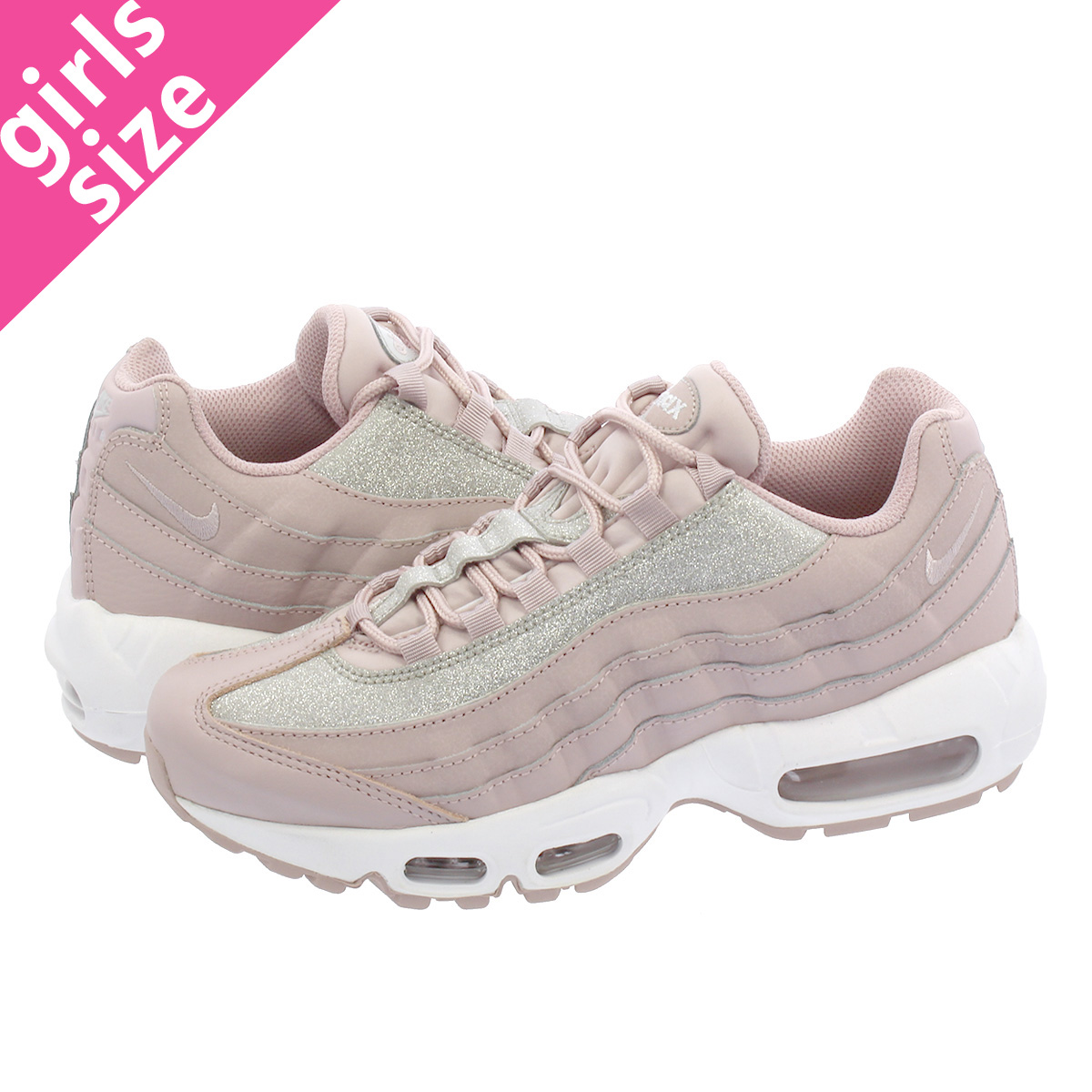 reputable site e6fdf daadf NIKE WMNS AIR MAX 95 SE Nike women Air Max 95 SE PARTICLE ROSE PURE ...