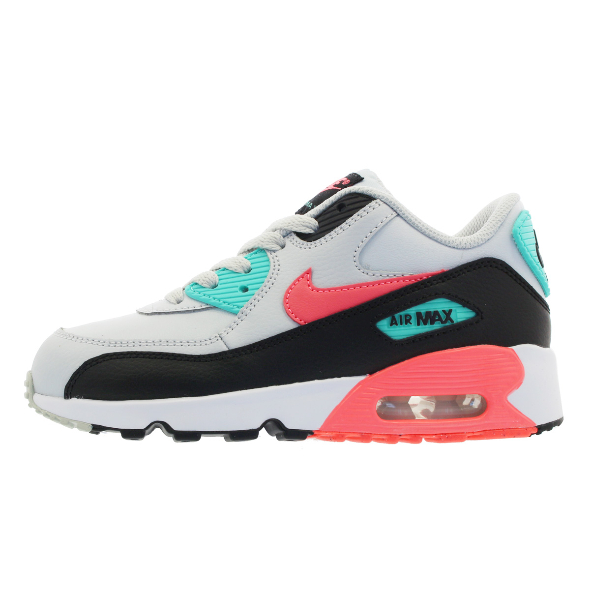 13c8e19823 ... NIKE AIR MAX 90 LTR PS Kie Ney AMAX 90 leather PS PURE PLATINUM/LAVA ...