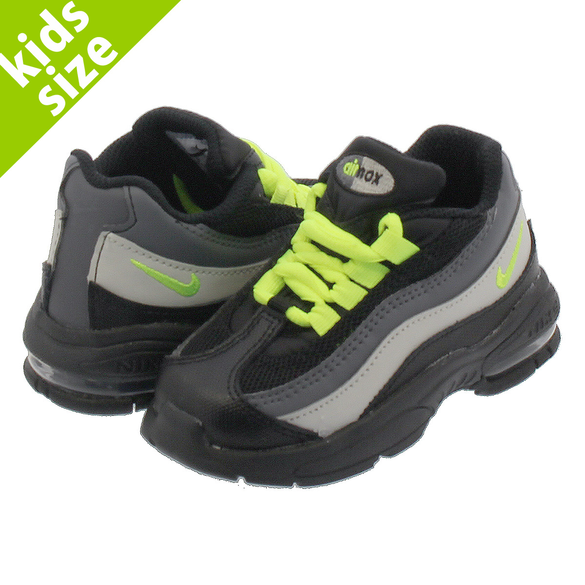 4130c8ee27 LOWTEX BIG-SMALL SHOP: NIKE AIR MAX 95 TD Kie Ney AMAX 95 TD BLACK/VOLT  905,462-022 | Rakuten Global Market