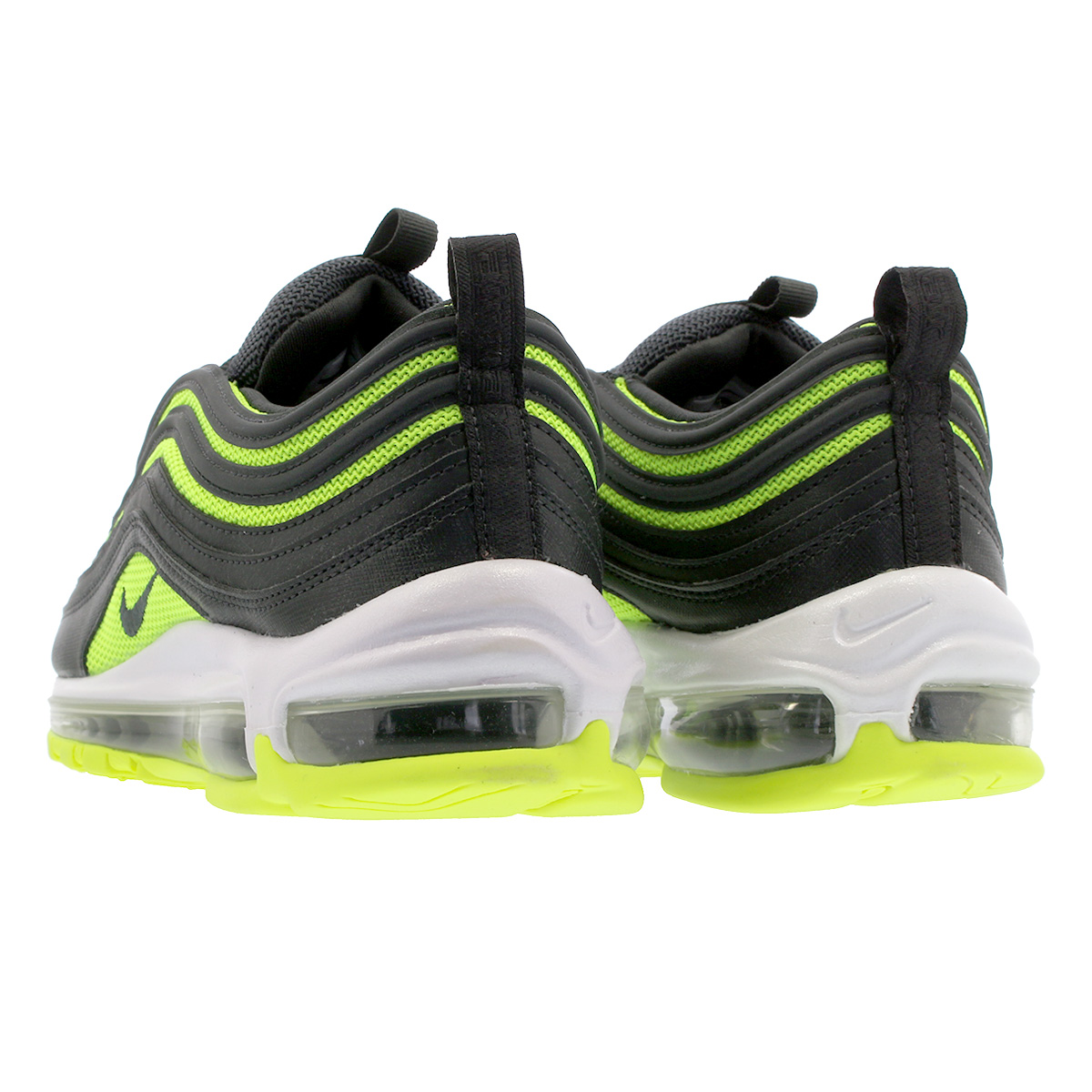 NIKE WMNS AIR MAX 97 Nike women Air Max 97 BLACKNEON GREEN 921,733 014