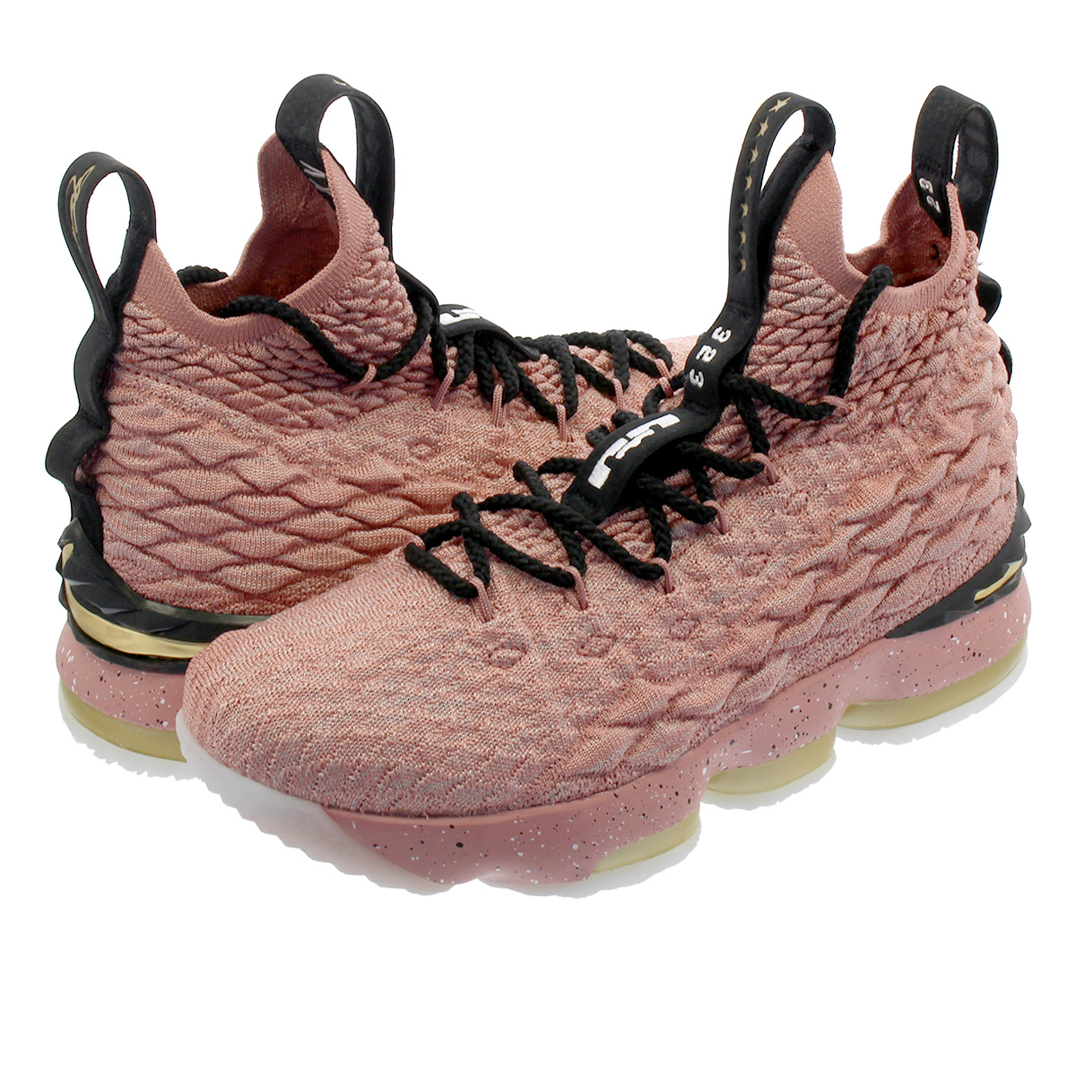 new style ff2ab 54535 NIKE LEBRON 15 GS Nike Revlon 15 GS RUST PINK/METALLIC GOLD/BLACK  943,762-600