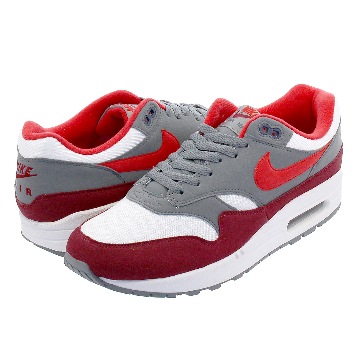 competitive price 77197 00c21 NIKE AIR MAX 1 Kie Ney AMAX 1 WHITE UNIVERSITY RED COOL GREY TEAM RED ah8145 -100