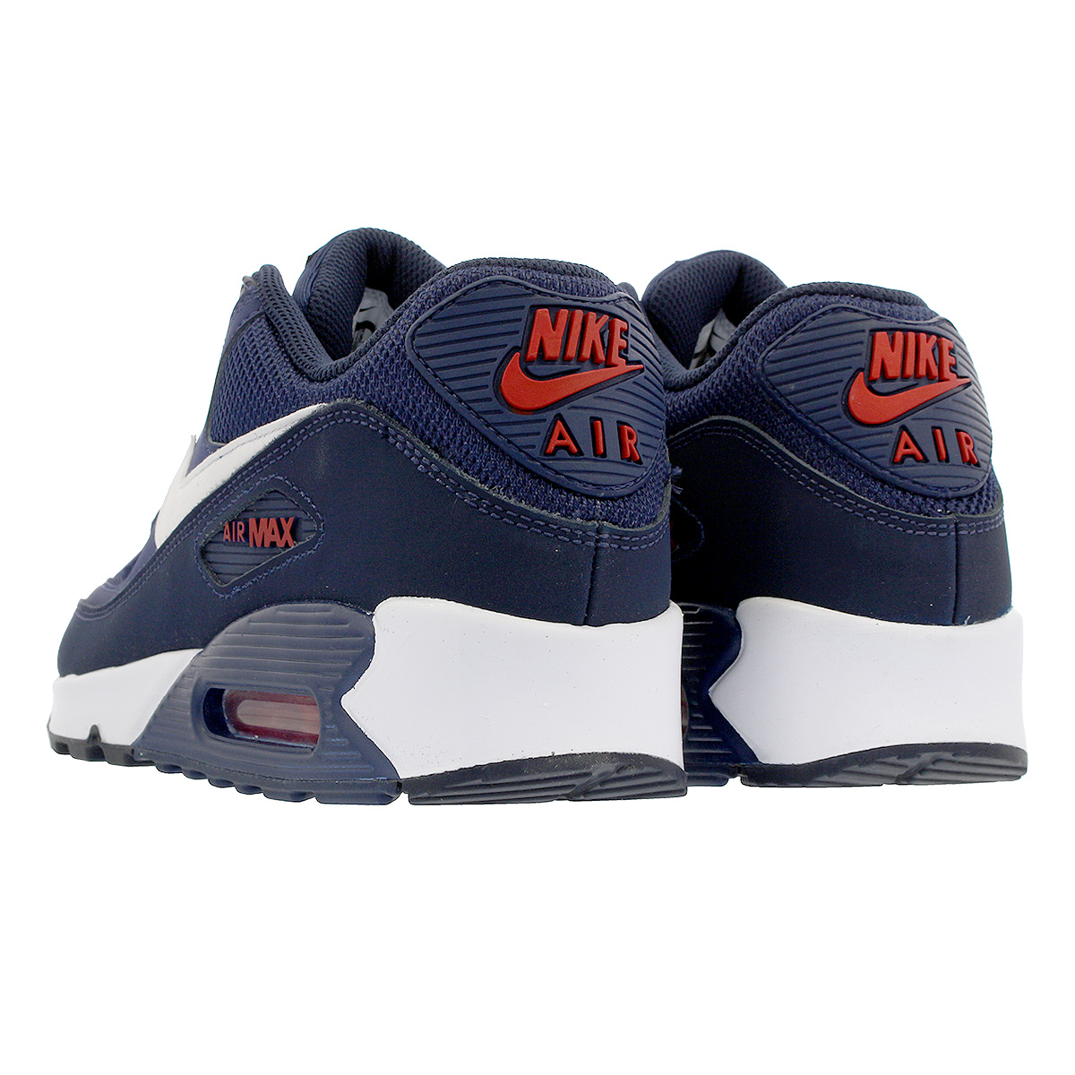 Nike Blue Air Max 90 Essential Midnight Navy White university Red for men