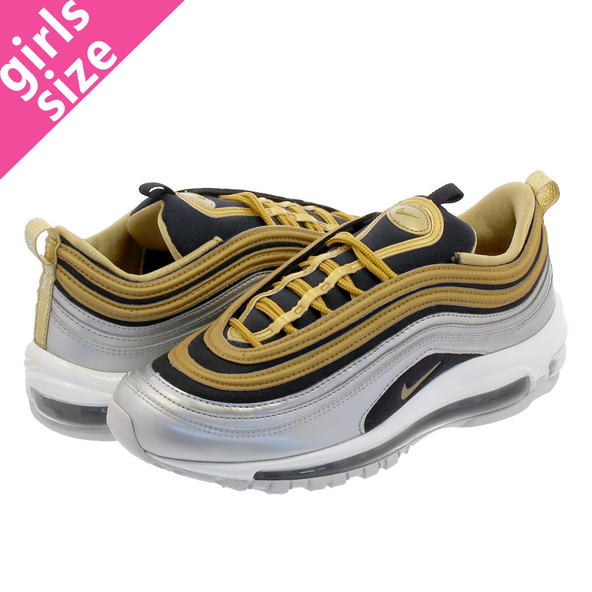 4c1ba05b49c NIKE WMNS AIR MAX 97 SE Nike women Air Max 97 SE METALLIC SILVER METALLIC  GOLD aq4137-700