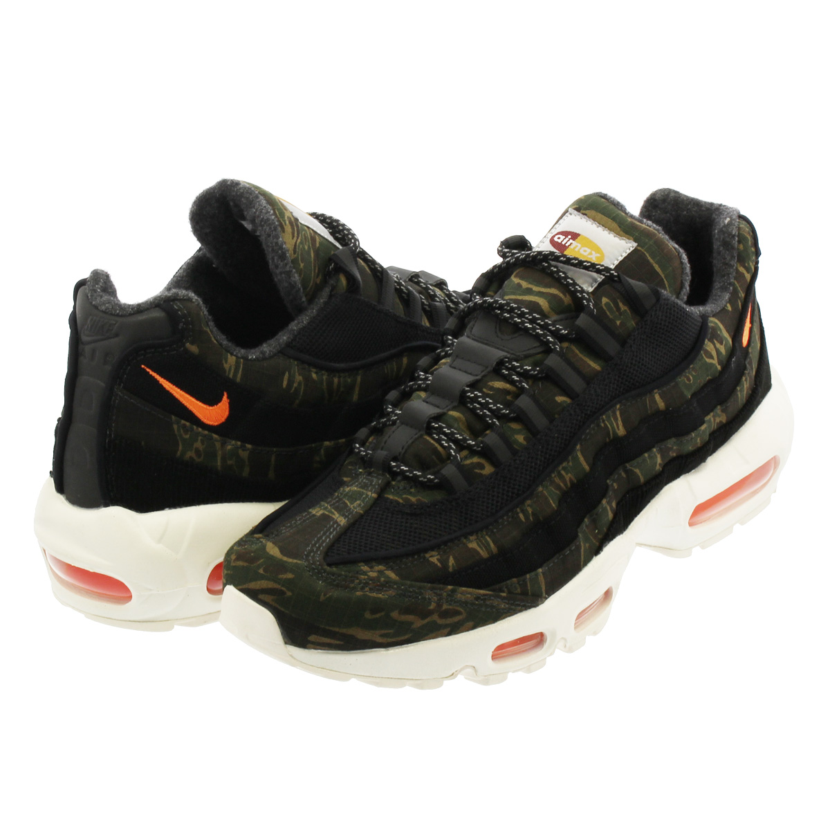d8bd1ddf238b6 NIKE AIR MAX 95 CARHARTT WIP Kie Ney AMAX 95 car heart BLACK/TOTAL ORANGE  ...