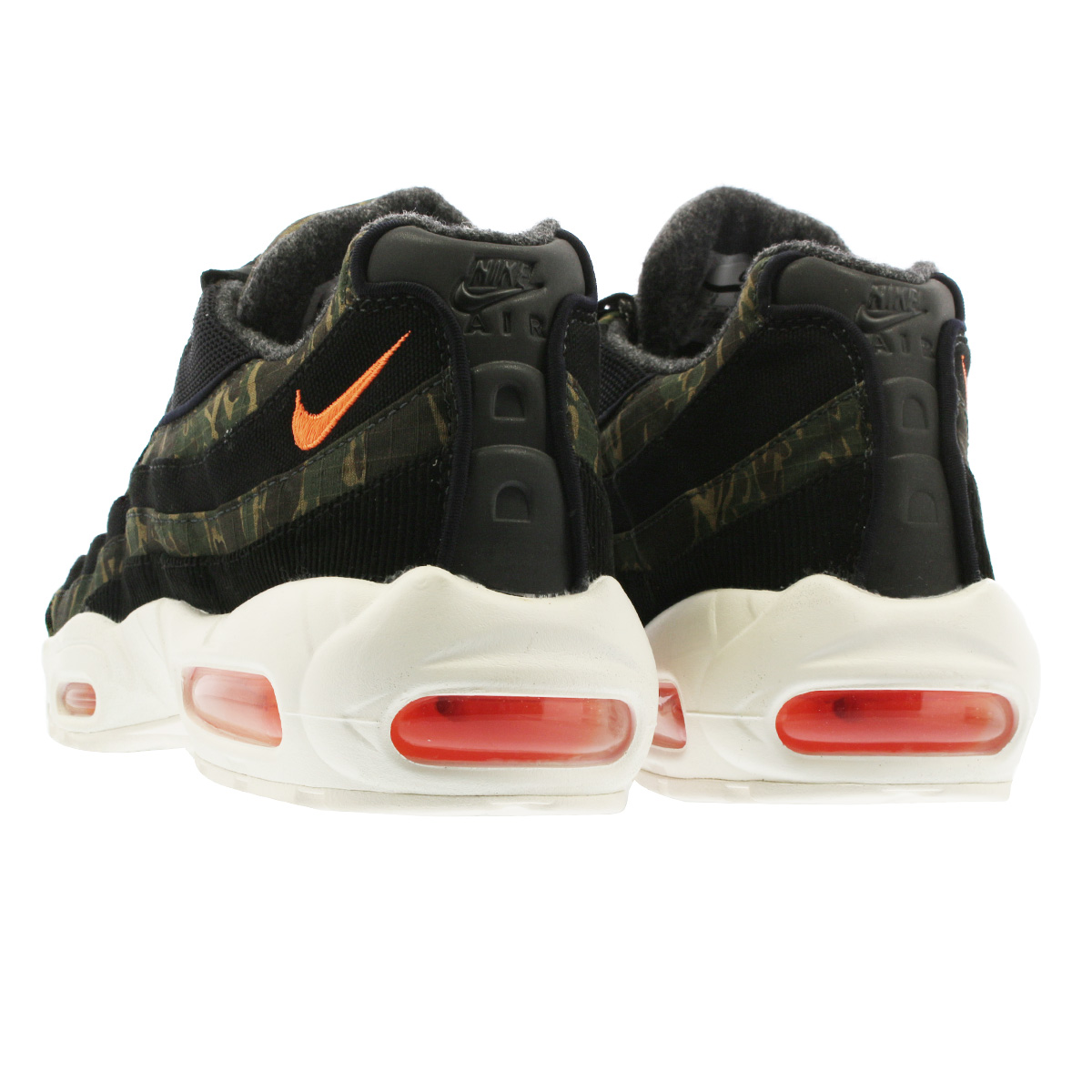NIKE AIR MAX 95 CARHARTT WIP Kie Ney AMAX 95 car heart BLACK TOTAL  ORANGE SAIL av3866-001 35edfdc84