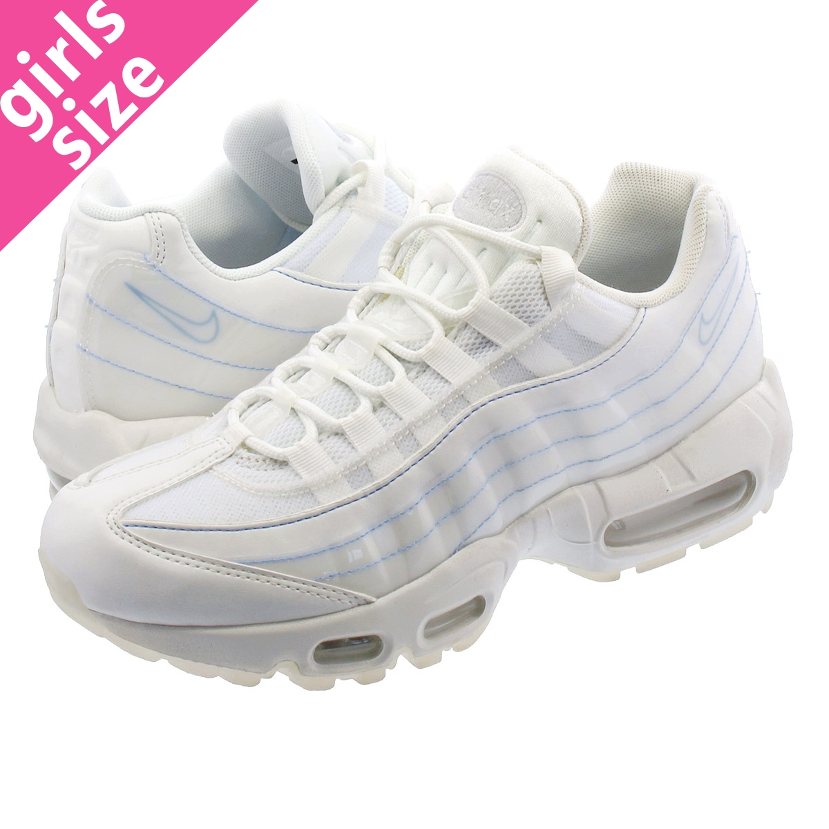 Nike Air Max 95 Trainers In All White from category Women