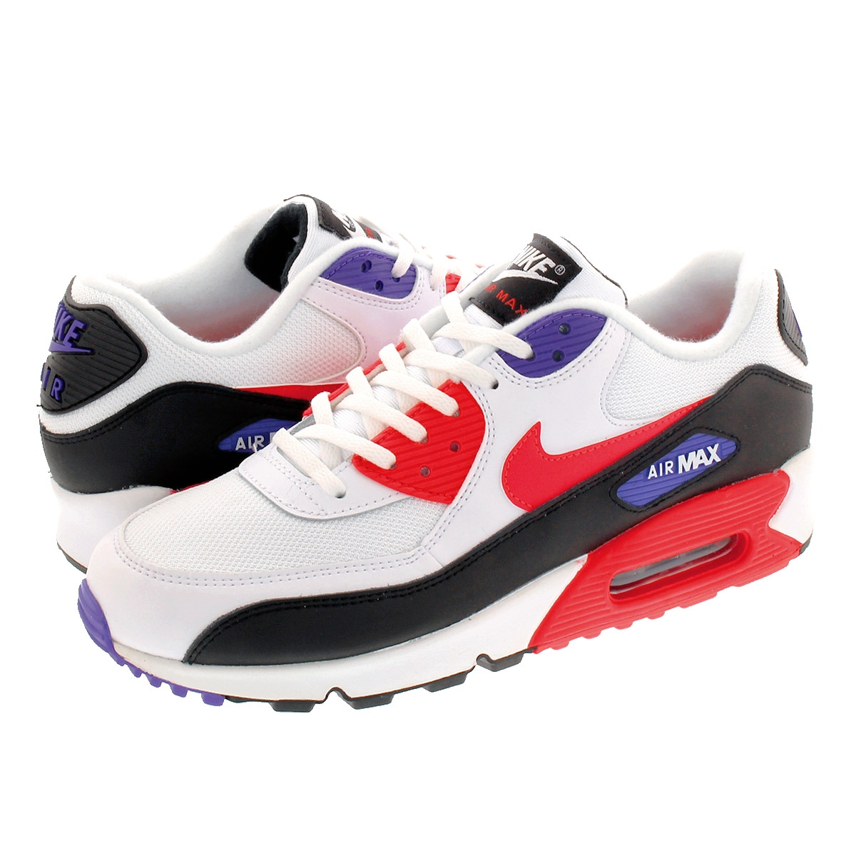 Nike Air Max 90 Essential white, red and black sneaker