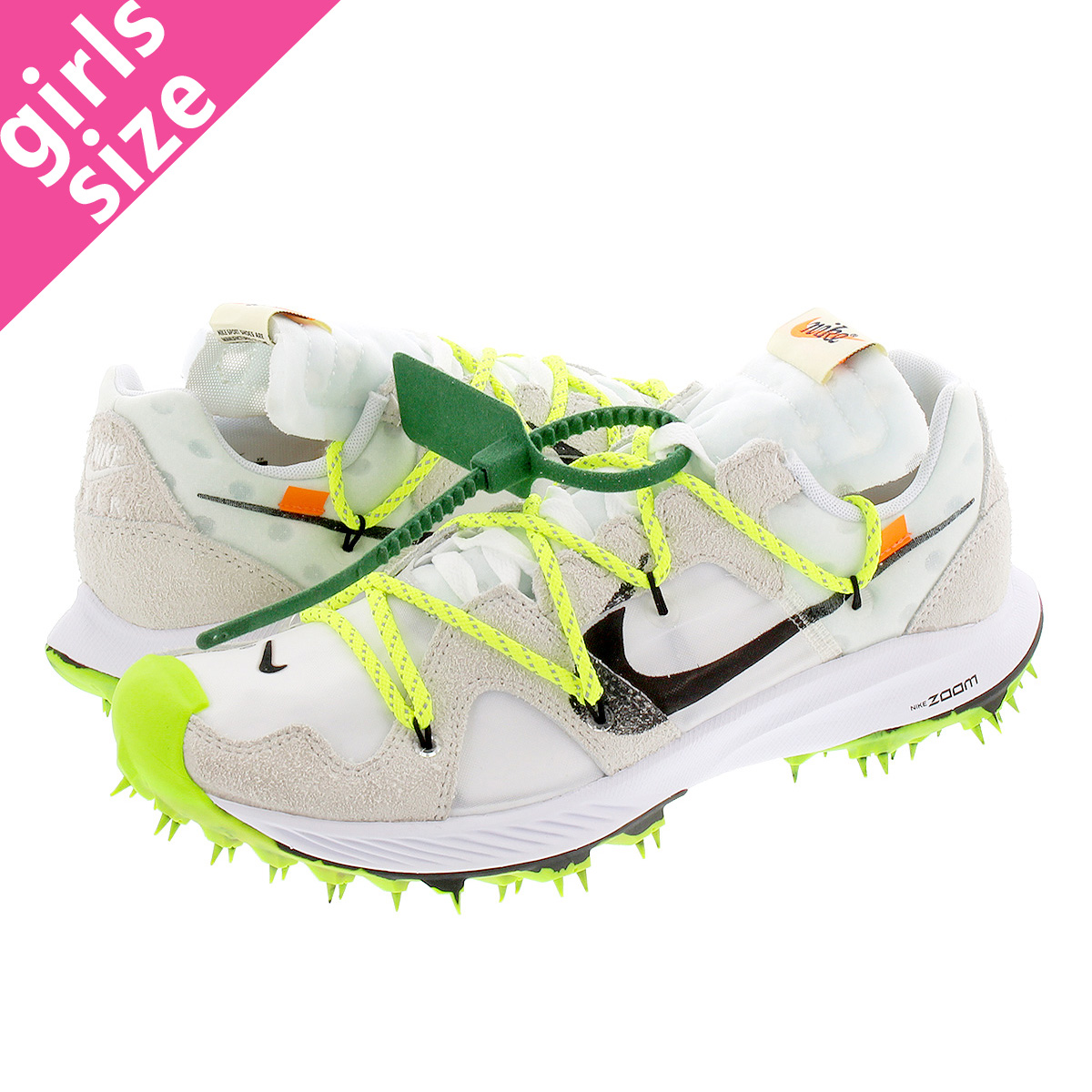NIKE WMNS ZOOM TERRA KINGER 5 【OFF-WHITE】 ナイキ ウィメンズ ズーム テラ カイガー 5 WHITE/METALLIC SILVER/SAIL/SAFETY ORANGE cd8179-100