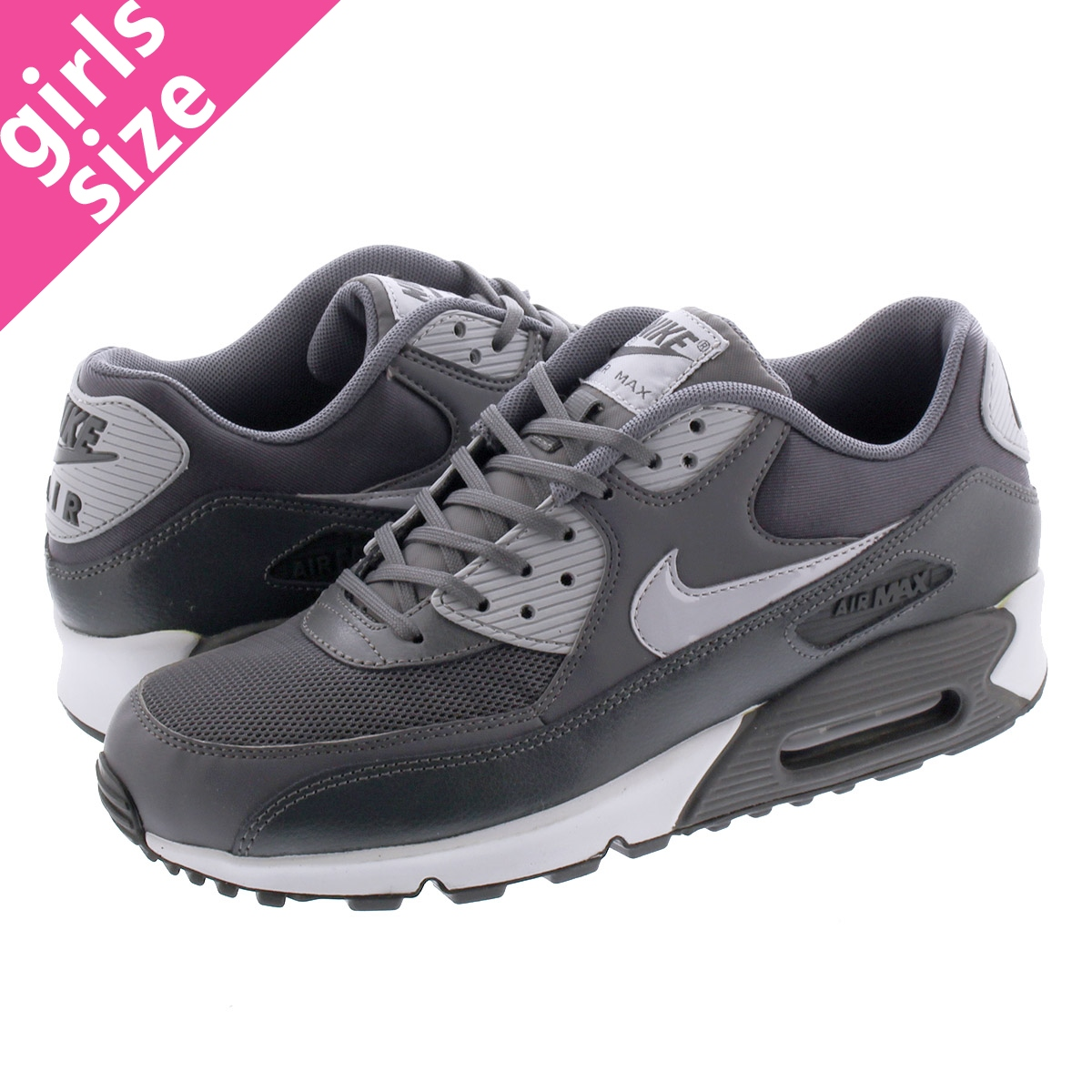 NIKE WMNS AIR MAX 90 ESSENTIAL Nike women Air Max 90 essential DARK GREYWOLF GREYANTHRACITE 616,730 030