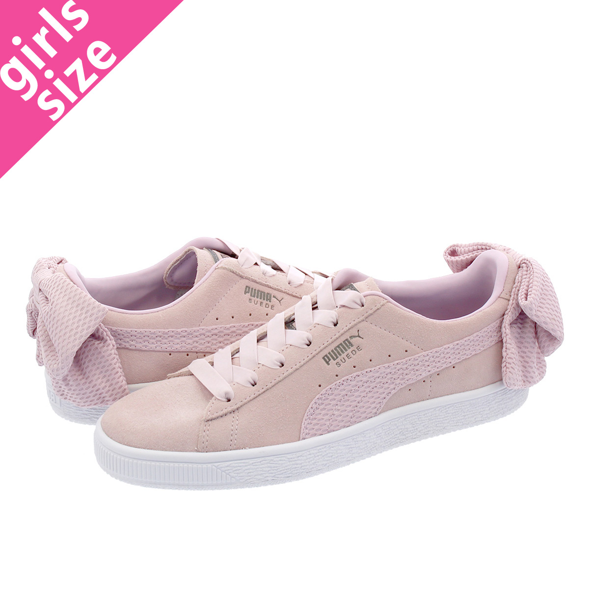 59c64d1a390322 LOWTEX BIG-SMALL SHOP  PUMA SUEDE BOW UPRISING WMNS Puma suede cloth BOW up  rising women WINSOME ORCHID PUMA WHITE 367