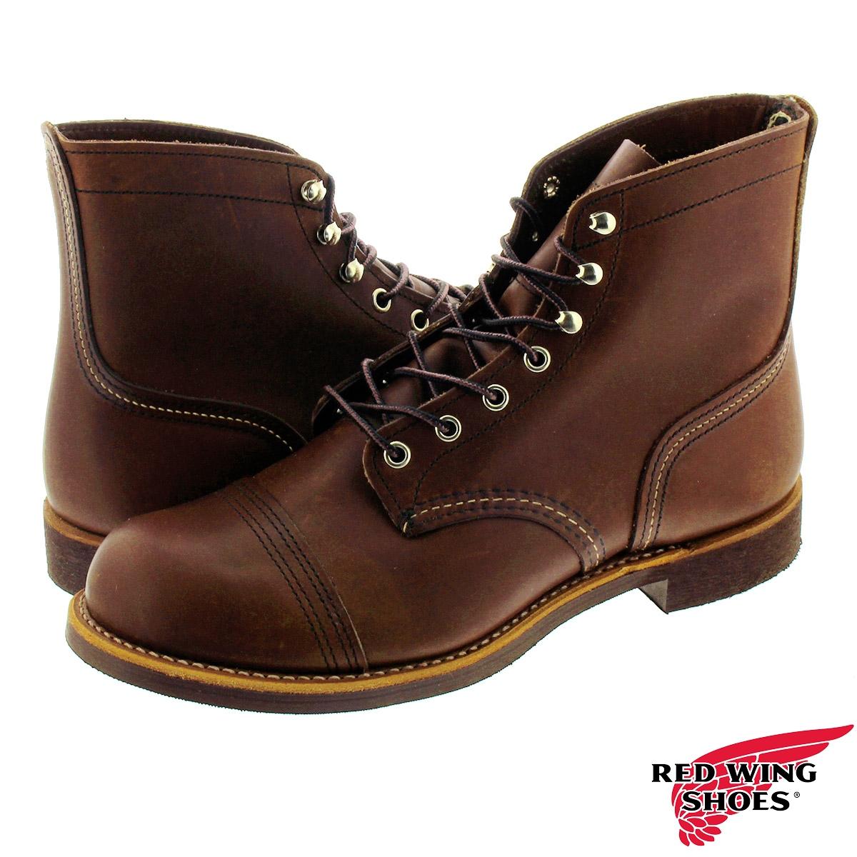 【ビッグ・スモールサイズ】RED WING IRON RANGE BOOTレッドウイング アイアンレンジ ブーツ DARK BROWN rw-8111