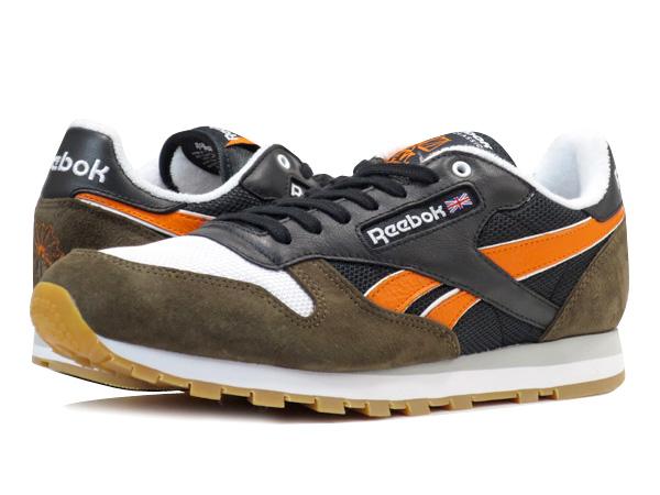 Reebok CL LTHR R12 Reebok classic leather R12 BLACK/GREY/ORANGE/WHITE