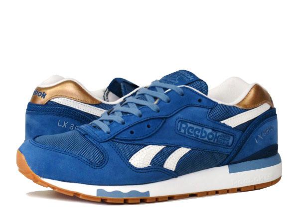 Reebok LX 8500锐步LX 8500 BATIK BLUE/BLUE SLATE/DARK GOLD