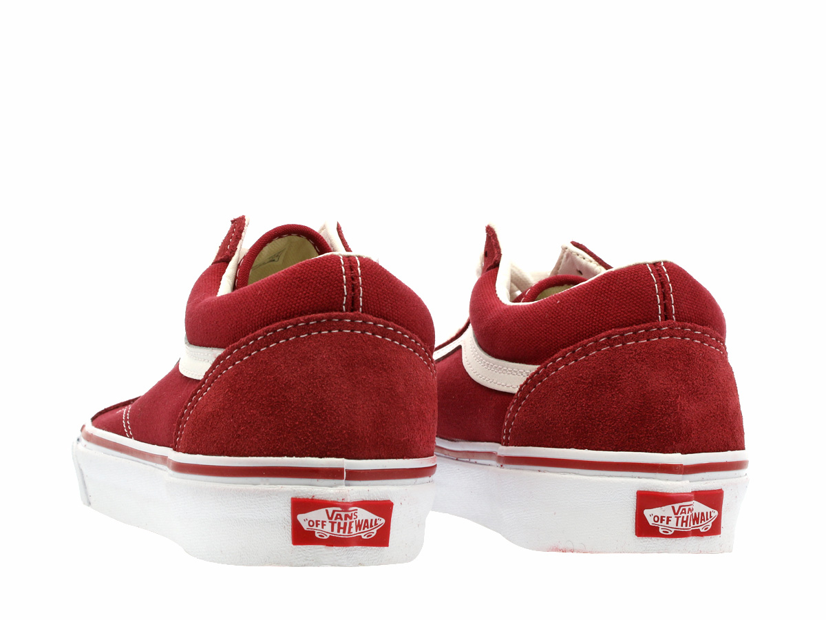 VANS OLD SKOOL vans old school BRICK REDTRUE WHITE