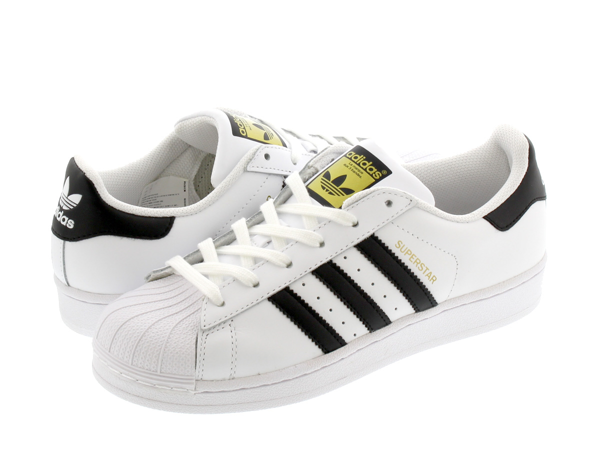 adidas SUPERSTAR W WHITE/BLACK 【adidas Originals】