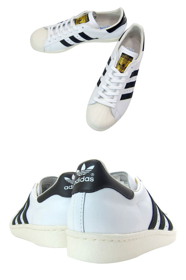 adidas SUPER STAR 80s WHITE/BLACK
