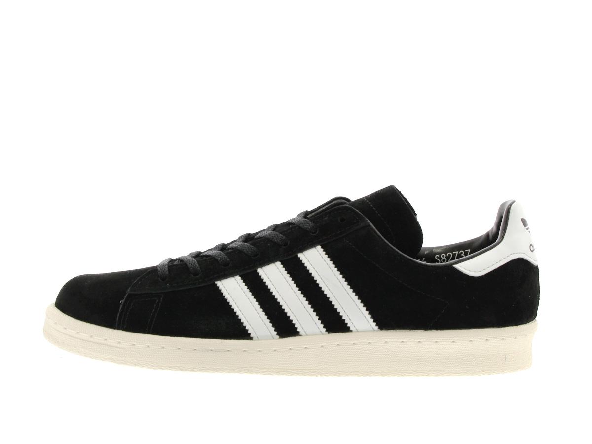 adidas CAMPUS 80S JAPAN PACK VNTG Adidas campus 80S Japan pack vintage BLACK/WHITE