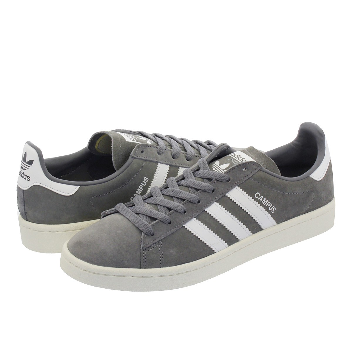 【7月16日(月)再入荷】 adidas CAMPUS 【adidas Originals】 アディダス キャンパス GREY/RUNNING WHITE/CHALK WHITE