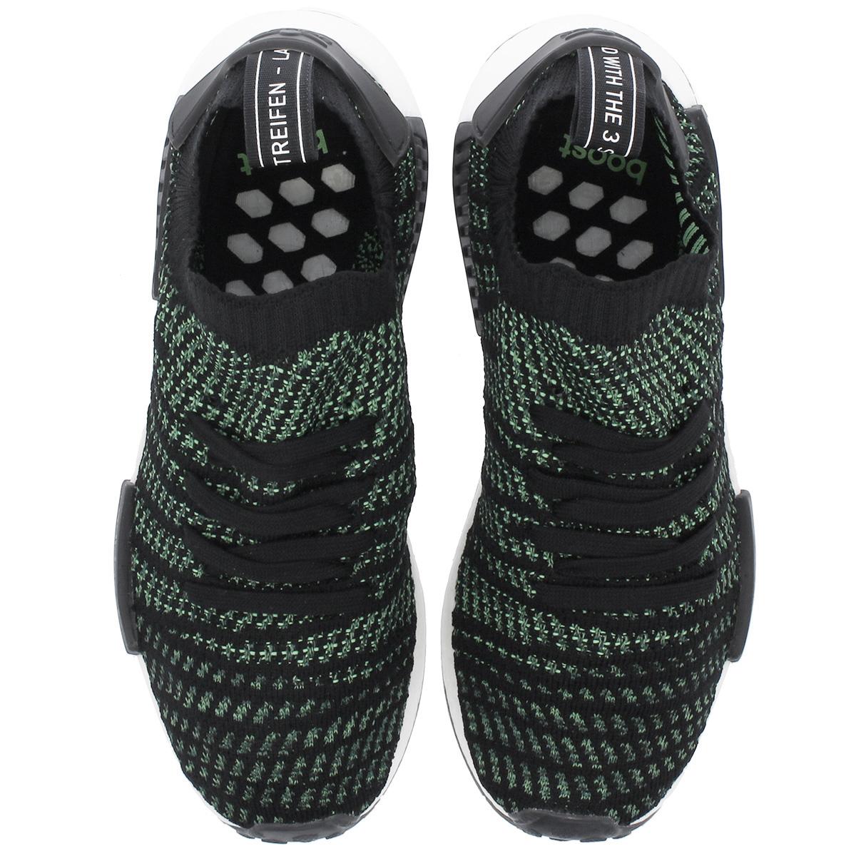 62b349c33 adidas NMD R1 STLT PK Adidas NMD R1 STLT PK CORE BLACK NOBLE GREEN BOLD  GREEN aq0936